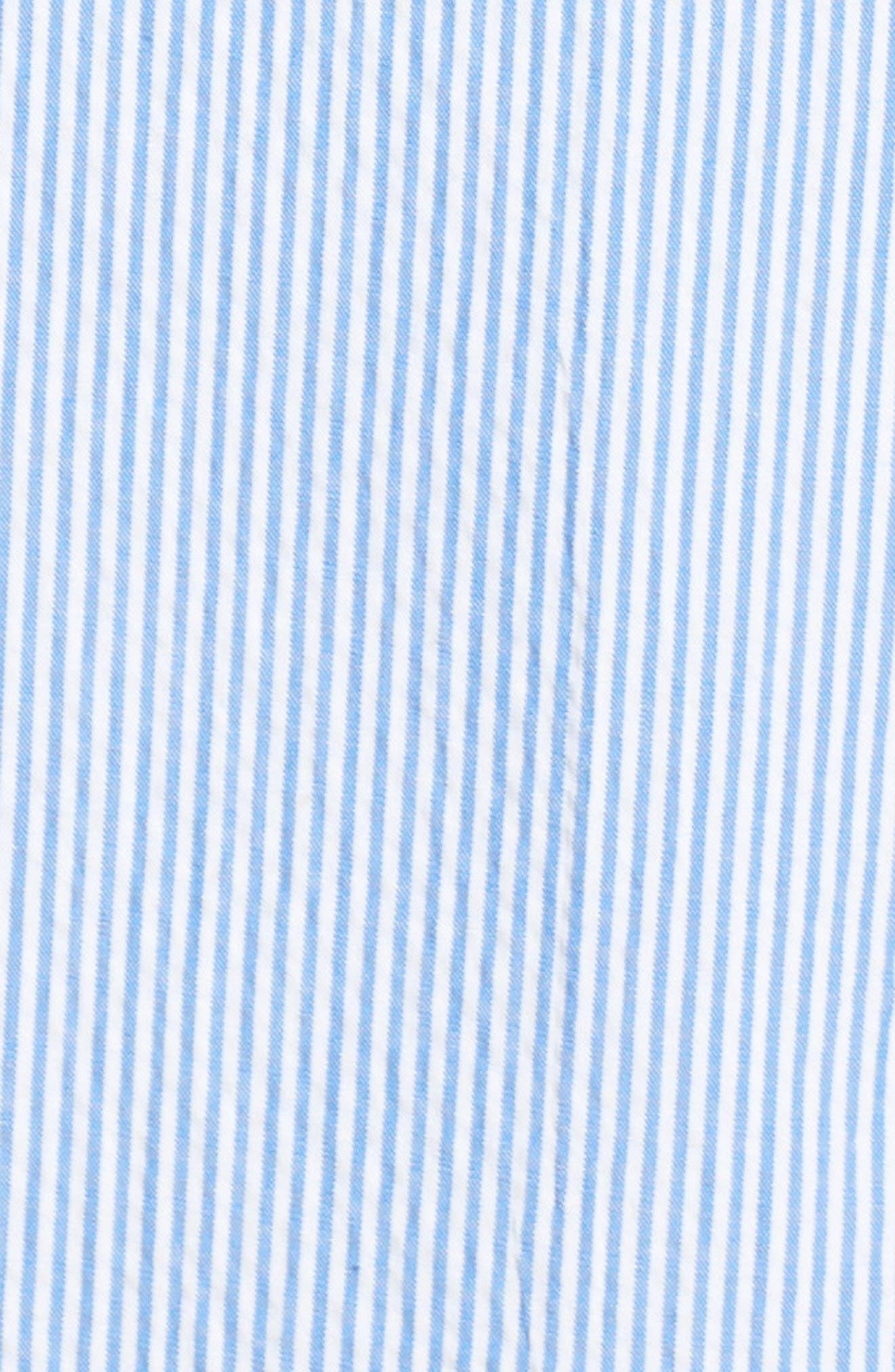 Stripe Sleeveless Shift Dress,                             Alternate thumbnail 6, color,                             Orange Sky