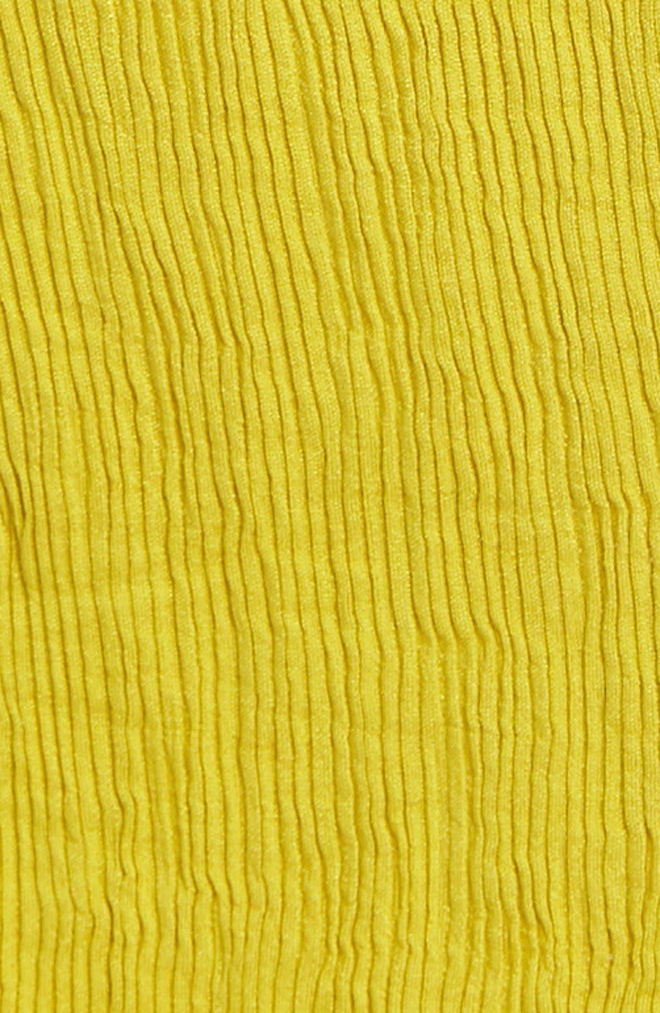 Avon Cold Shoulder Dress,                             Alternate thumbnail 6, color,                             Chartreuse