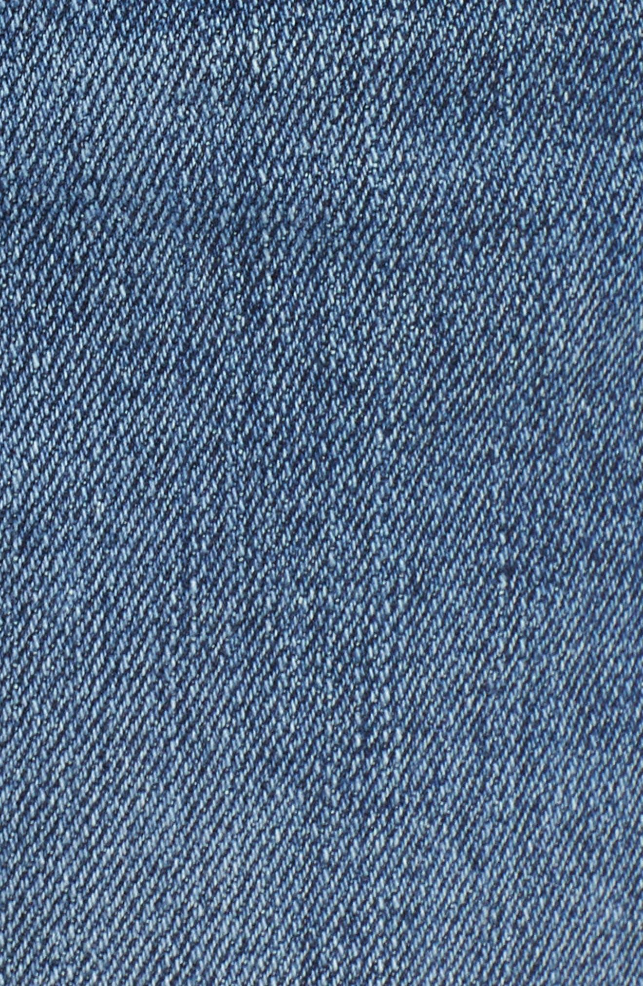 Ozzie Side Stripe Cutoff Shorts,                             Alternate thumbnail 6, color,                             Madera