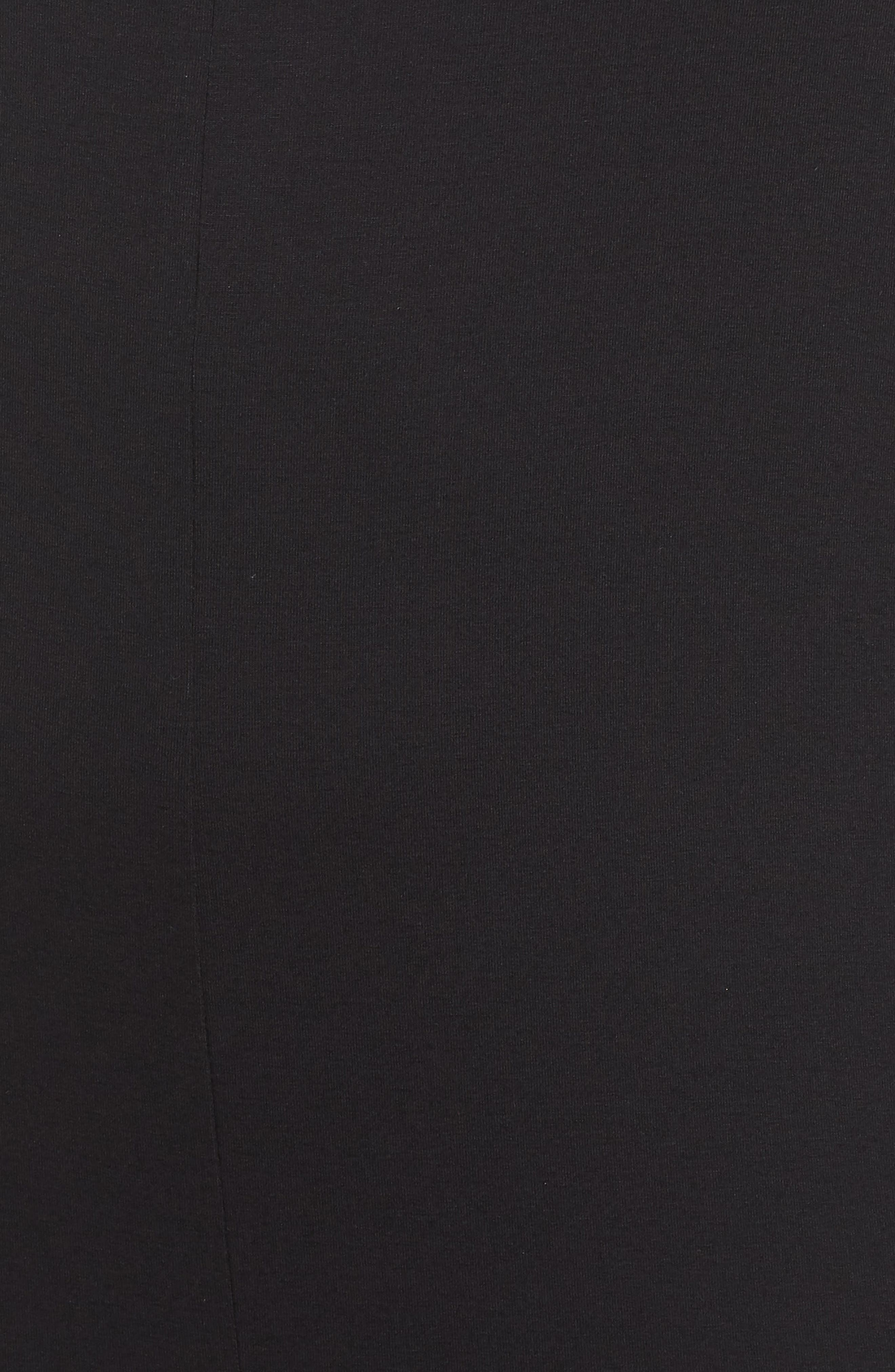 Crop Pinafore Jumpsuit,                             Alternate thumbnail 6, color,                             Black