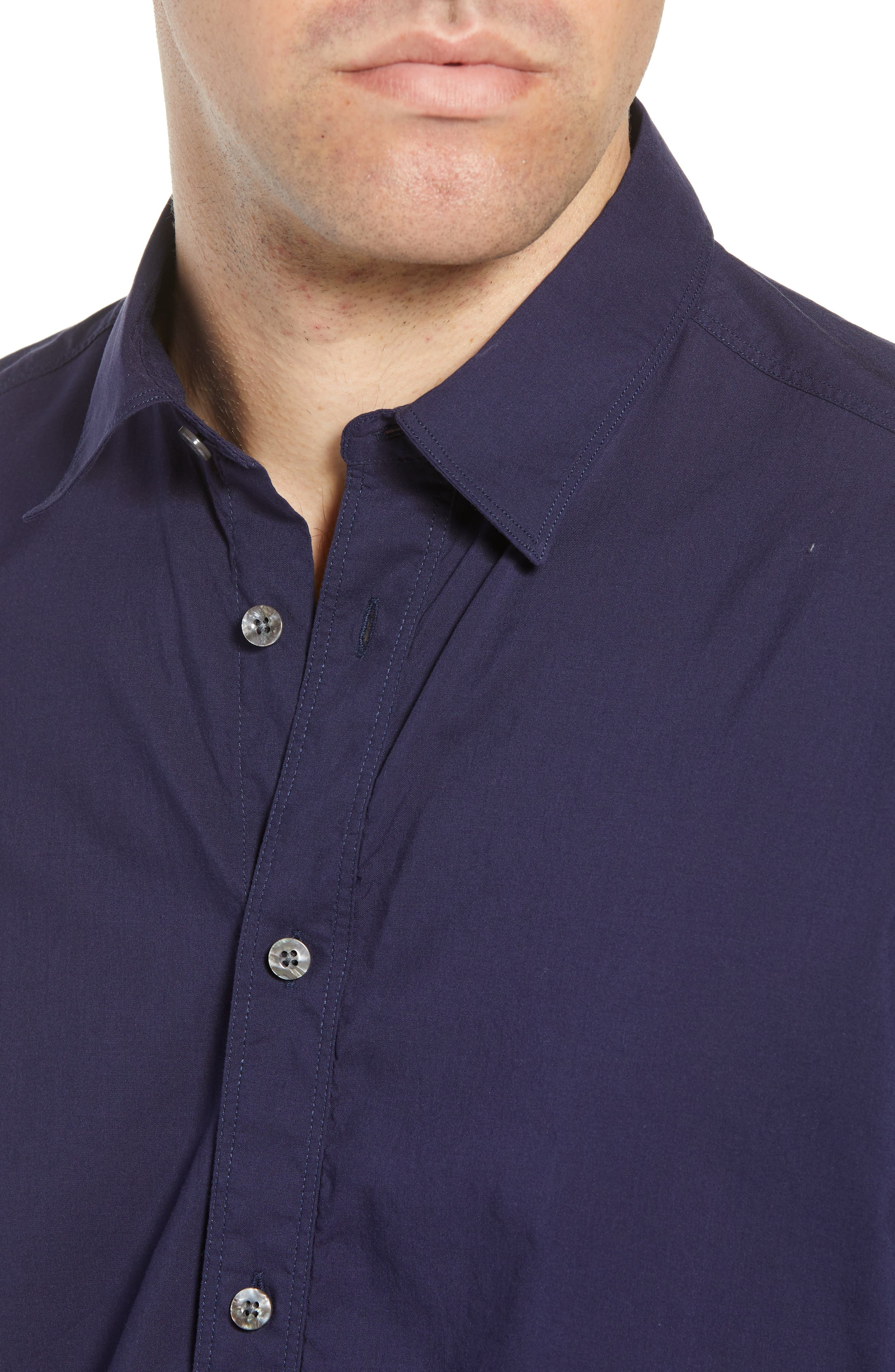 Pacifica Regular Fit Solid Sport Shirt,                             Alternate thumbnail 2, color,                             Navy