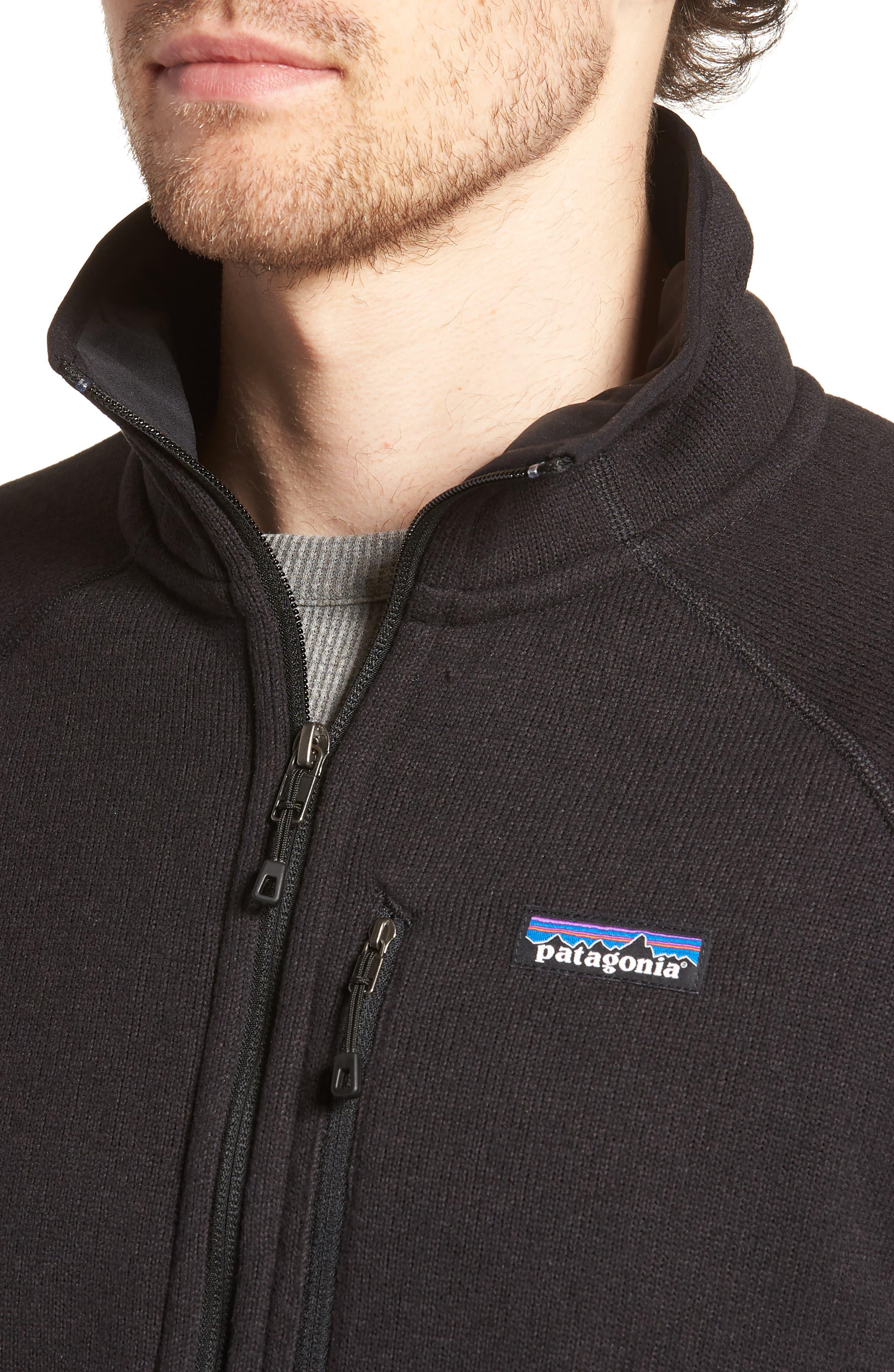 Better Sweater Zip Front Jacket,                             Alternate thumbnail 4, color,                             Blk