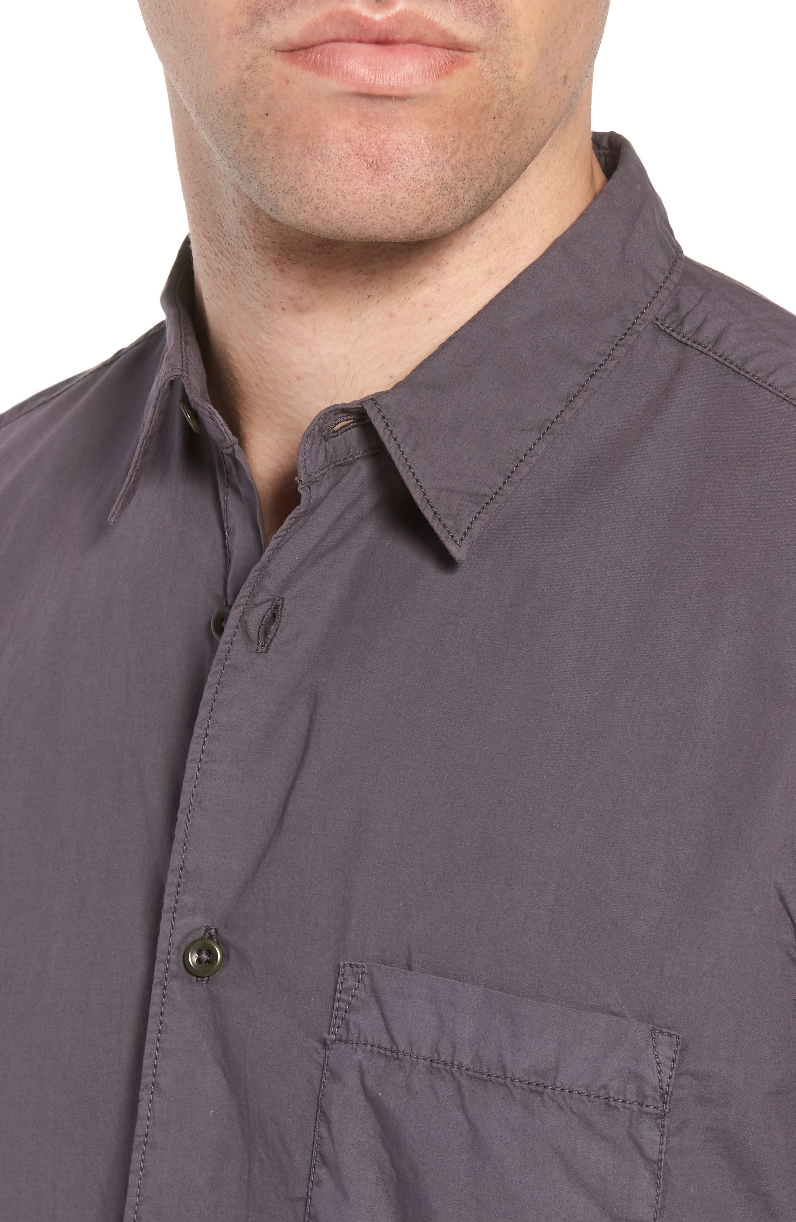 Regular Fit Poplin Sport Shirt,                             Alternate thumbnail 2, color,                             Workwear Grey