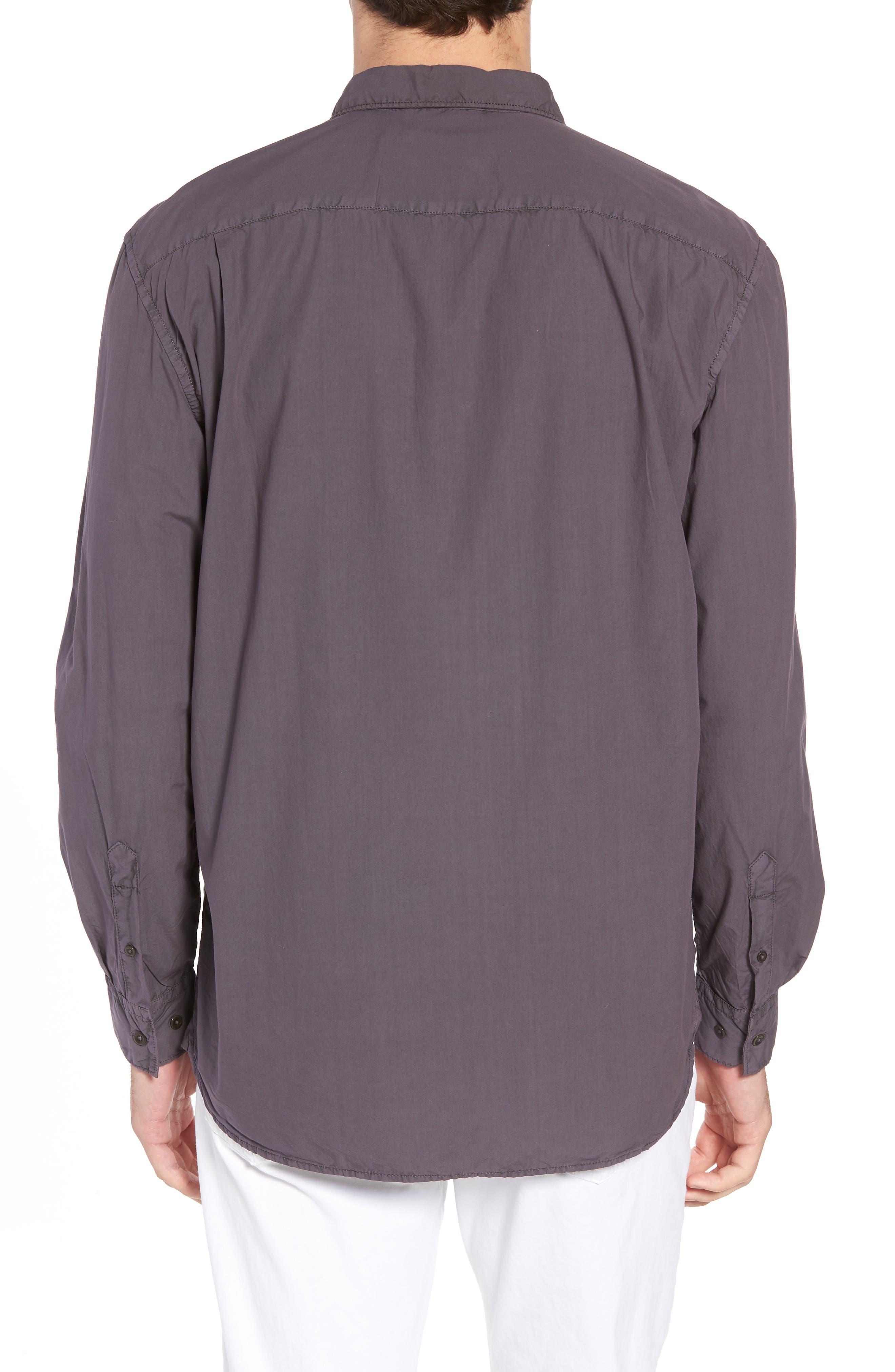 Regular Fit Poplin Sport Shirt,                             Alternate thumbnail 3, color,                             Workwear Grey