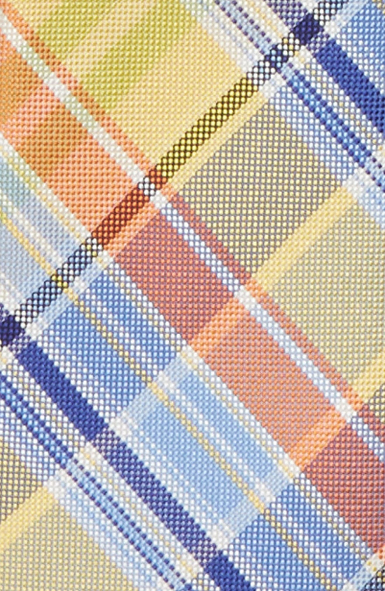 Madras Plaid Silk Zip Tie,                             Alternate thumbnail 2, color,                             455