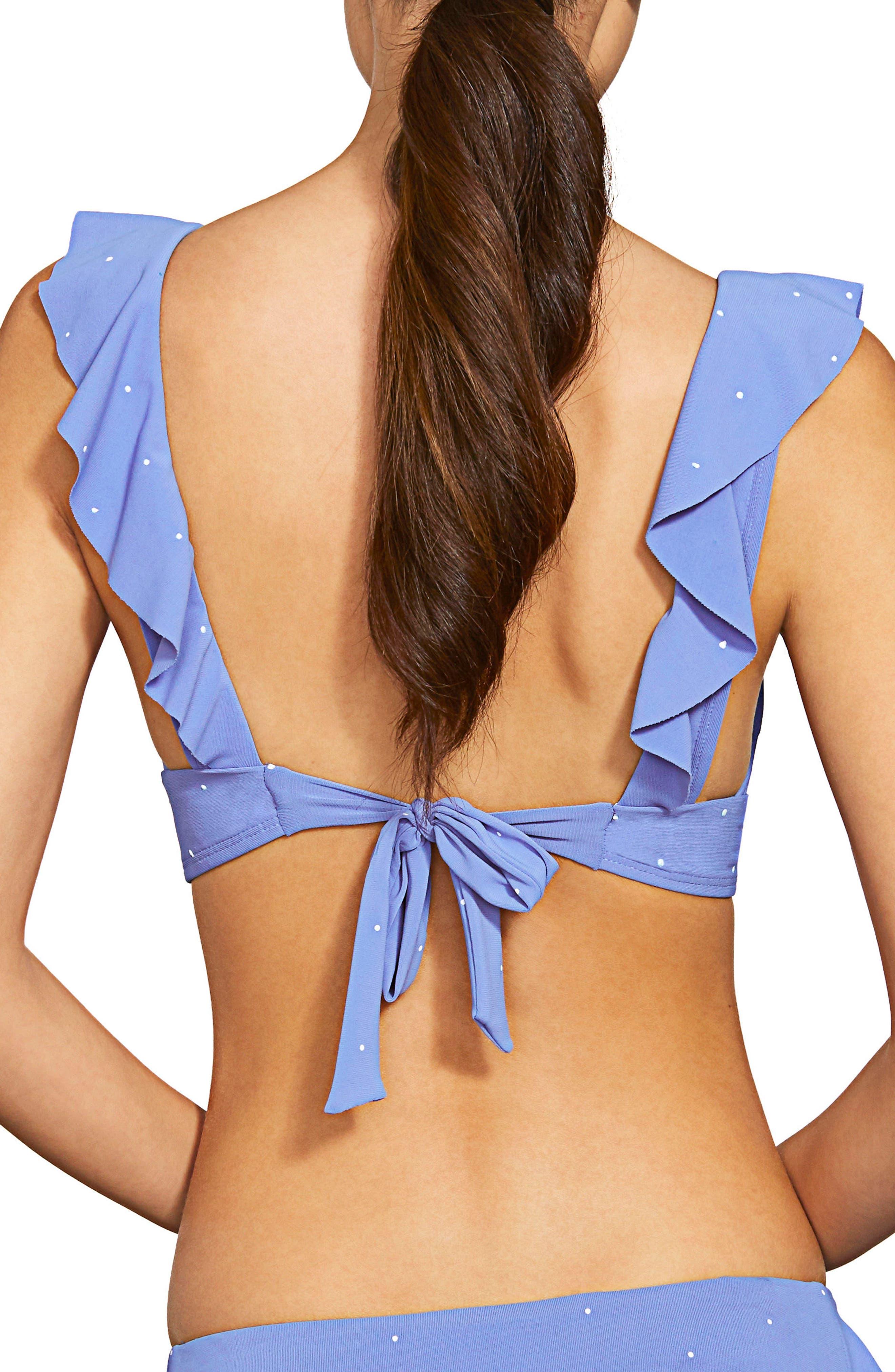 Jennie Ruffle Bikini Top,                             Alternate thumbnail 2, color,                             Periwinkle