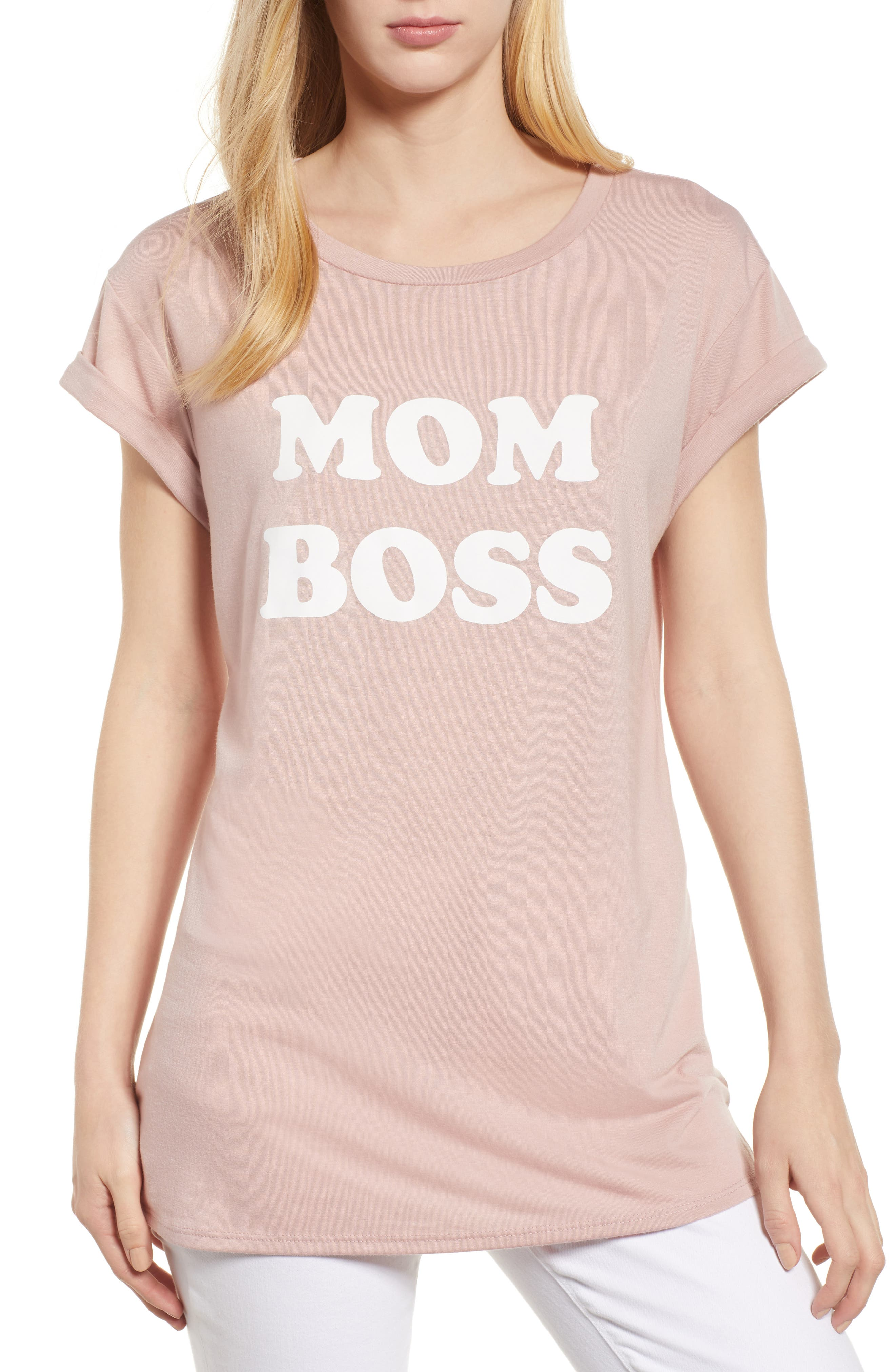Off-Duty Mother Tee,                         Main,                         color, Blush
