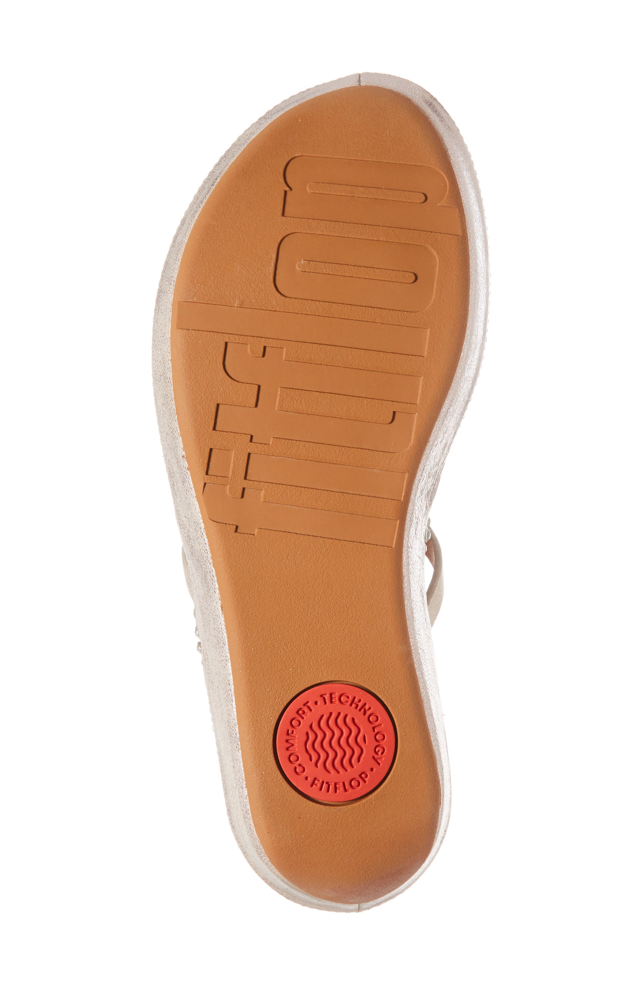 Linny Embellished Slide Sandal,                             Alternate thumbnail 6, color,                             Blush/ Metallic Nude Leather