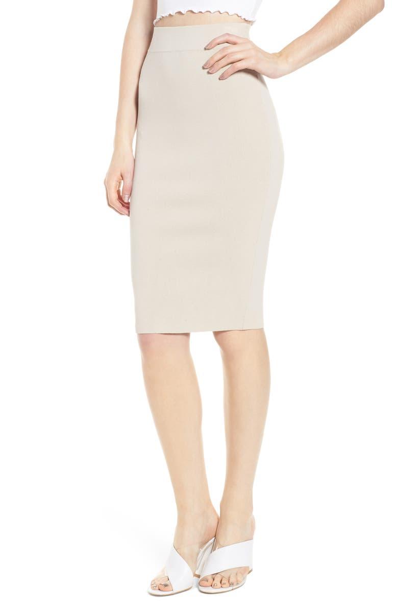 High Waist Body-Con Skirt