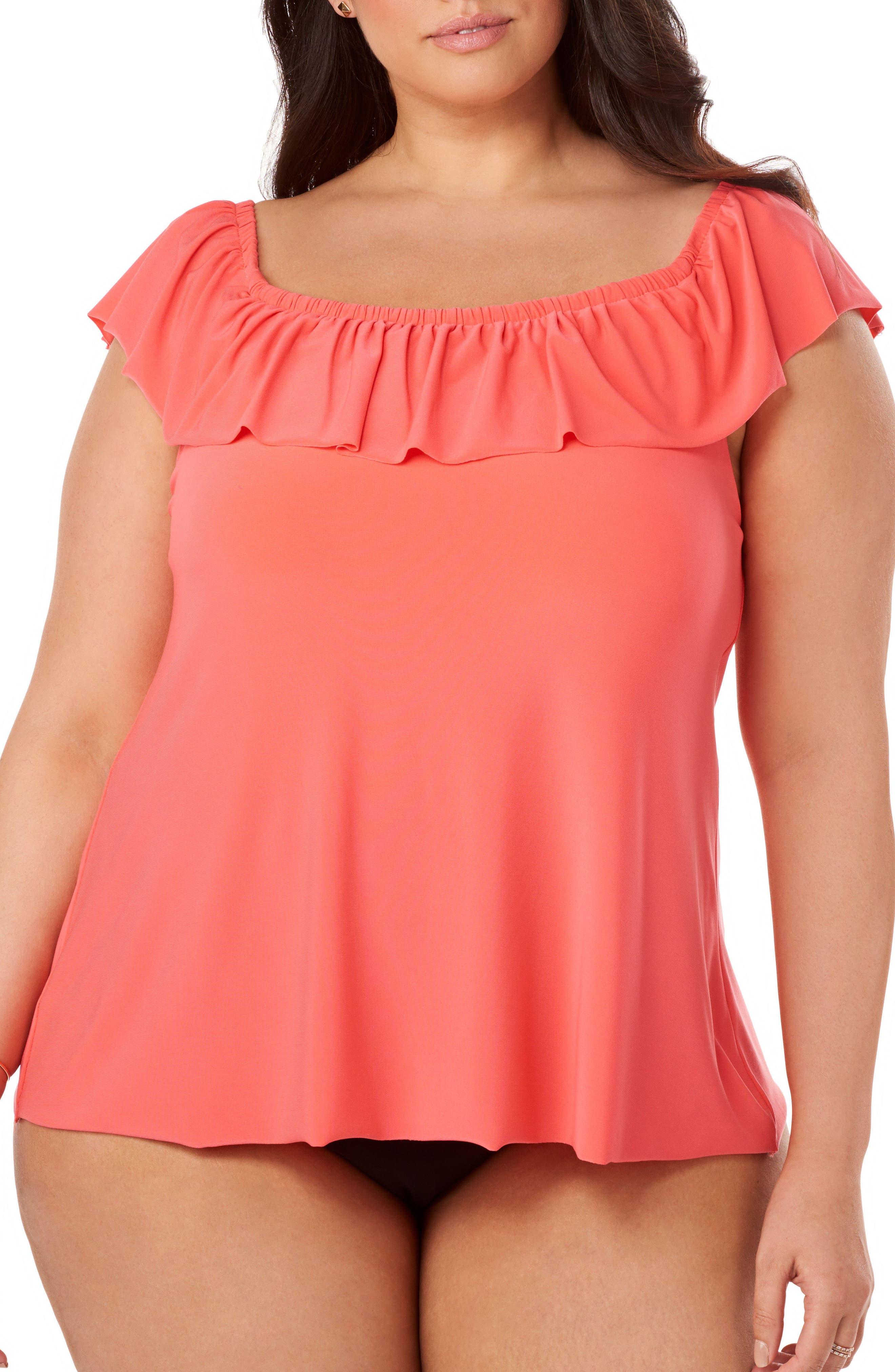 Alternate Image 3  - Magicsuit® Kris Tankini Top (Plus Size)