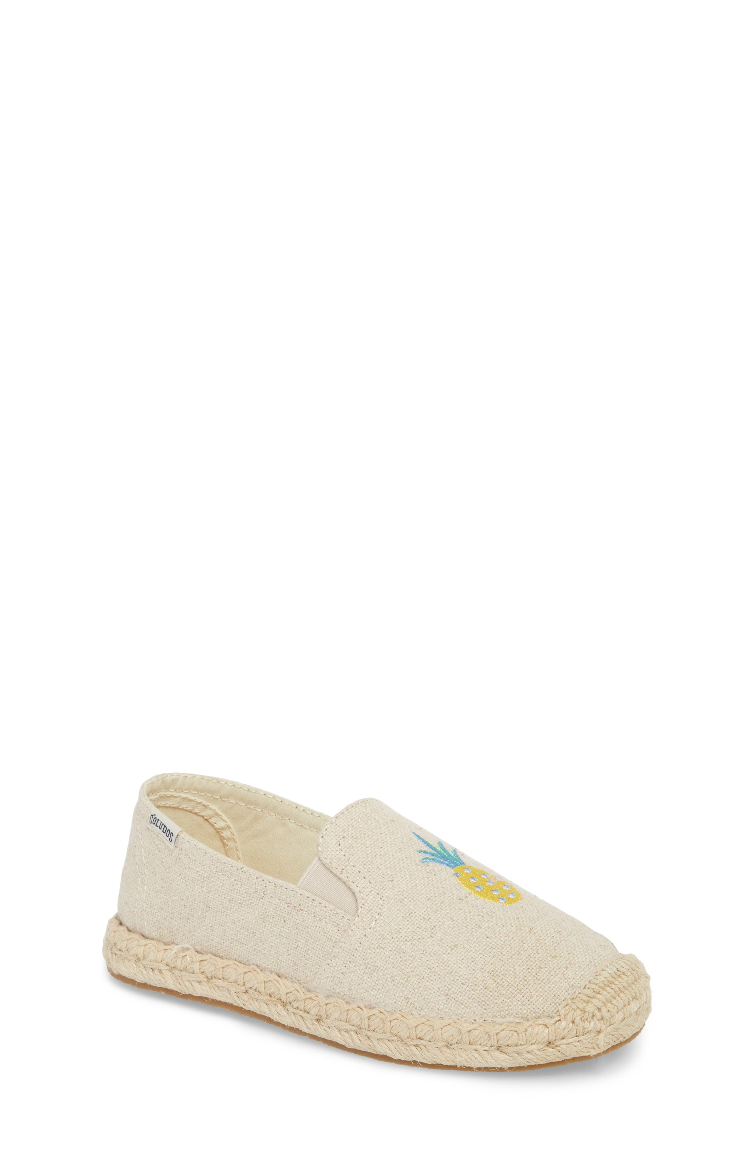 Pineapple Embroidered Espadrille,                             Main thumbnail 1, color,                             Sand