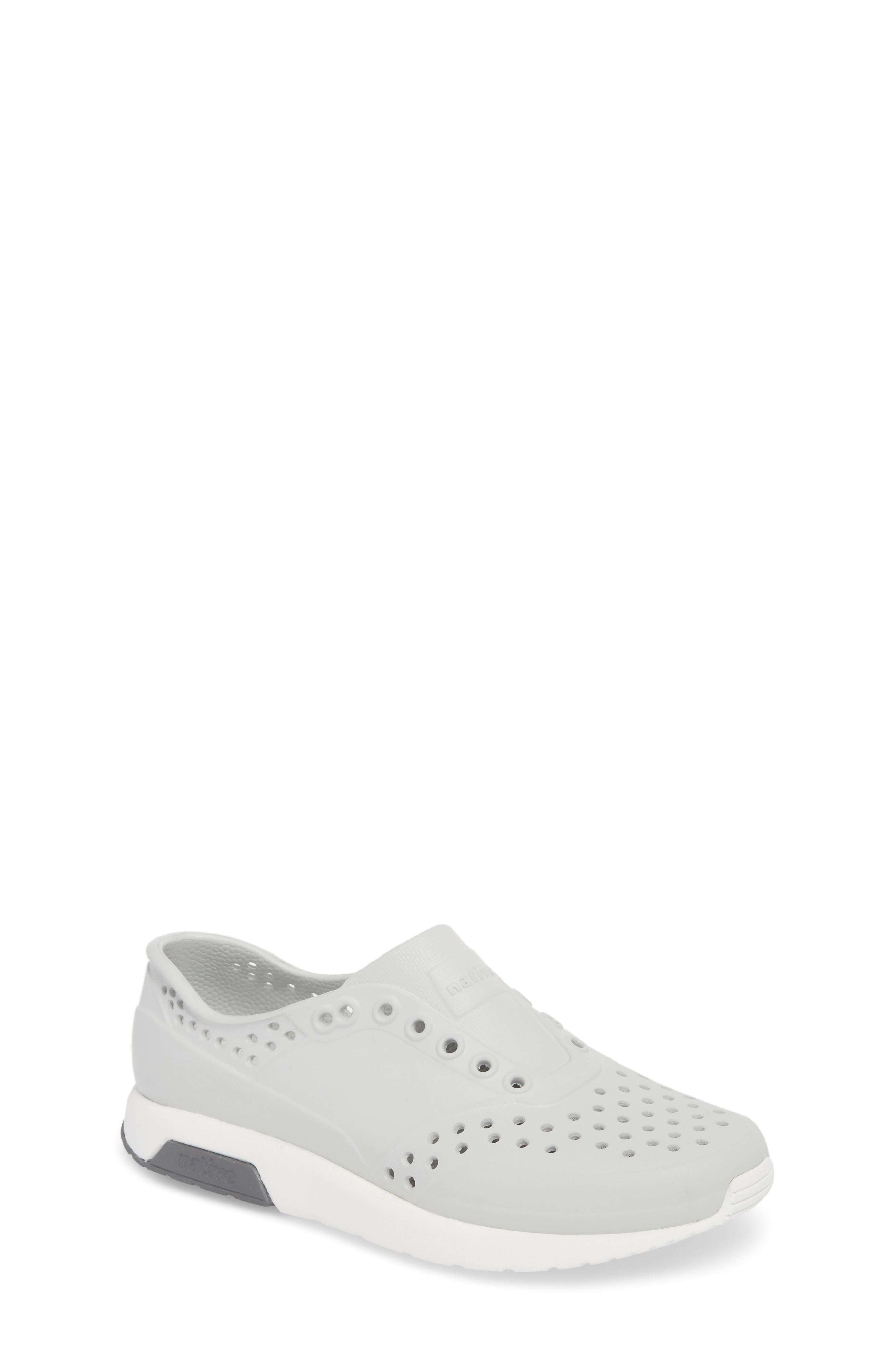 Native Shoes Lennox Slip-On Sneaker (Little Kid). MIST GREY/ WHITE/ DUBLIN  GREY; PEACE PURPLE/ SHELL ...