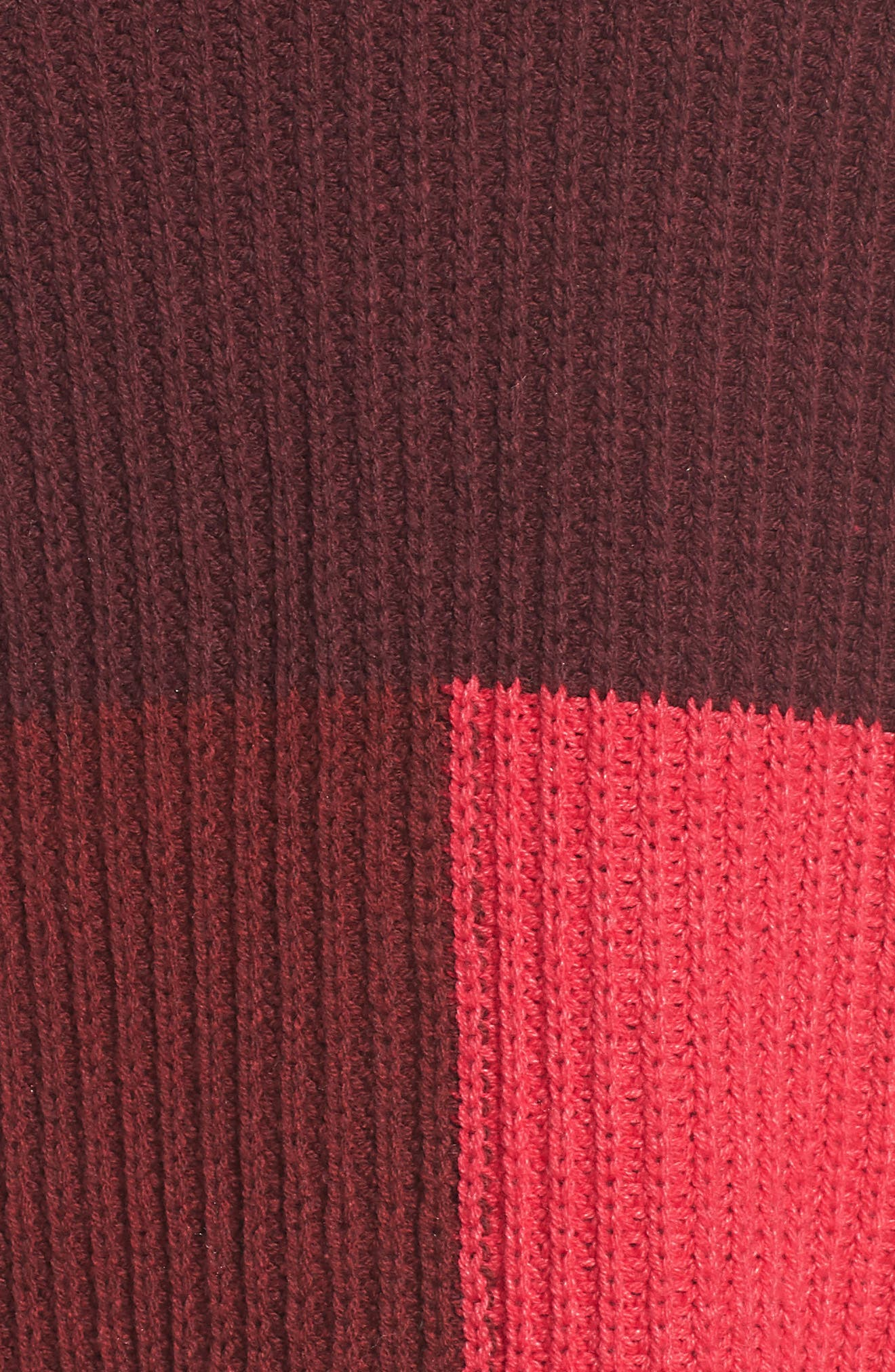 Mock Neck Colorblock Sweater,                             Alternate thumbnail 5, color,                             Red Rumba Colorblock