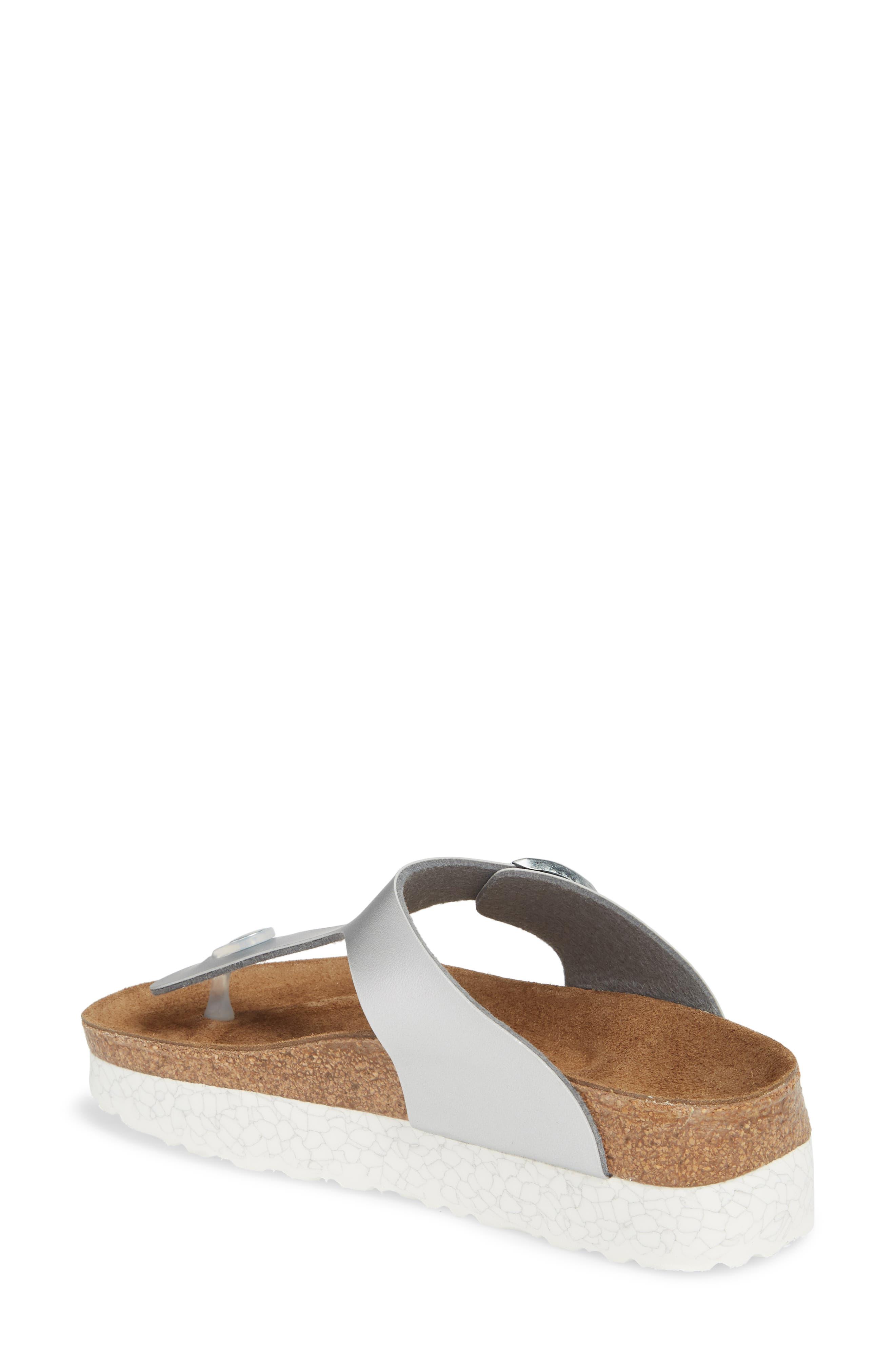 Papillio by Birkenstock 'Gizeh' Birko-Flor Platform Flip Flop Sandal,                             Alternate thumbnail 2, color,                             Mono Marble Silver Leather