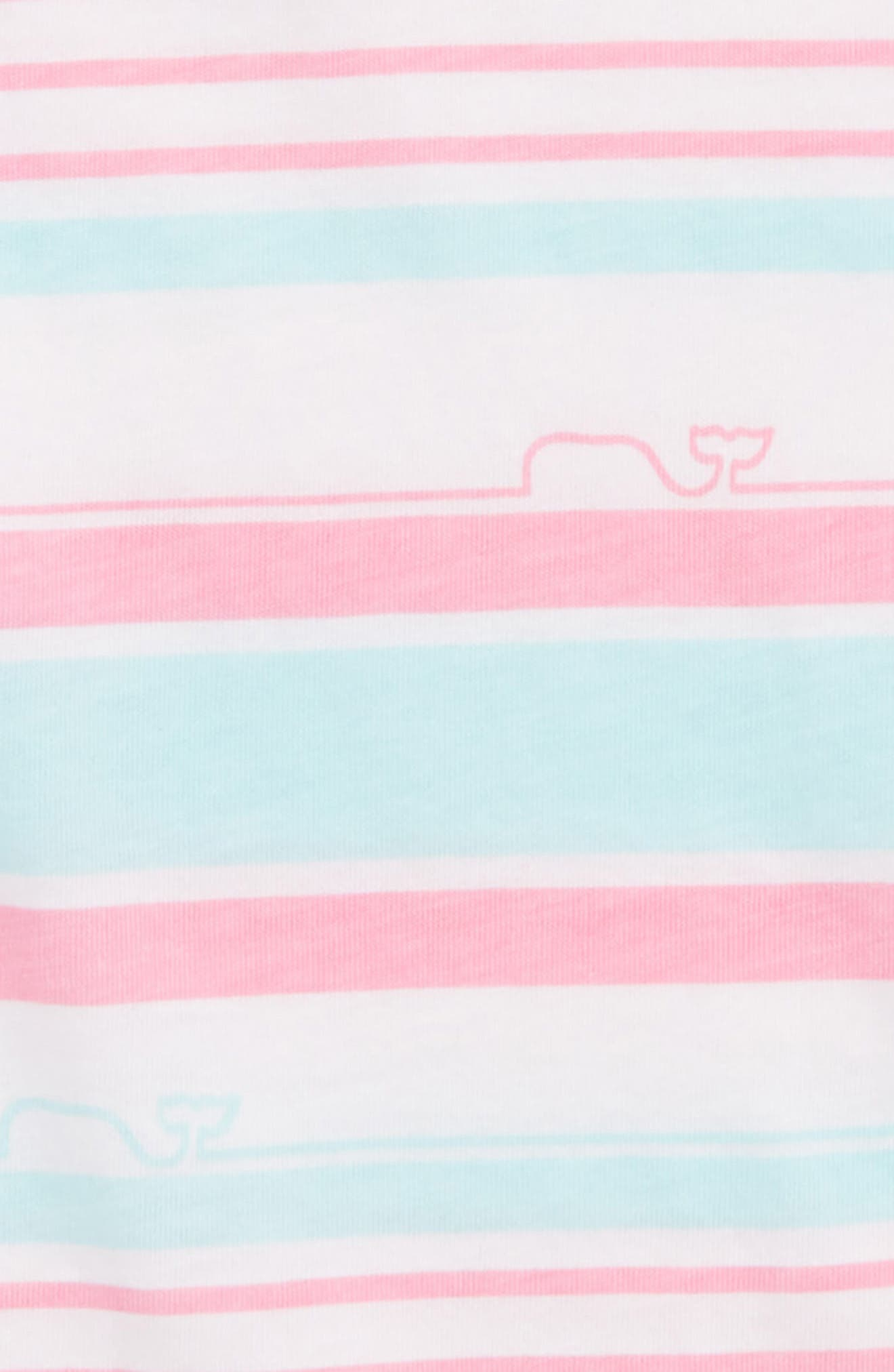 Whale Stripe Tee,                             Alternate thumbnail 2, color,                             Cupcake