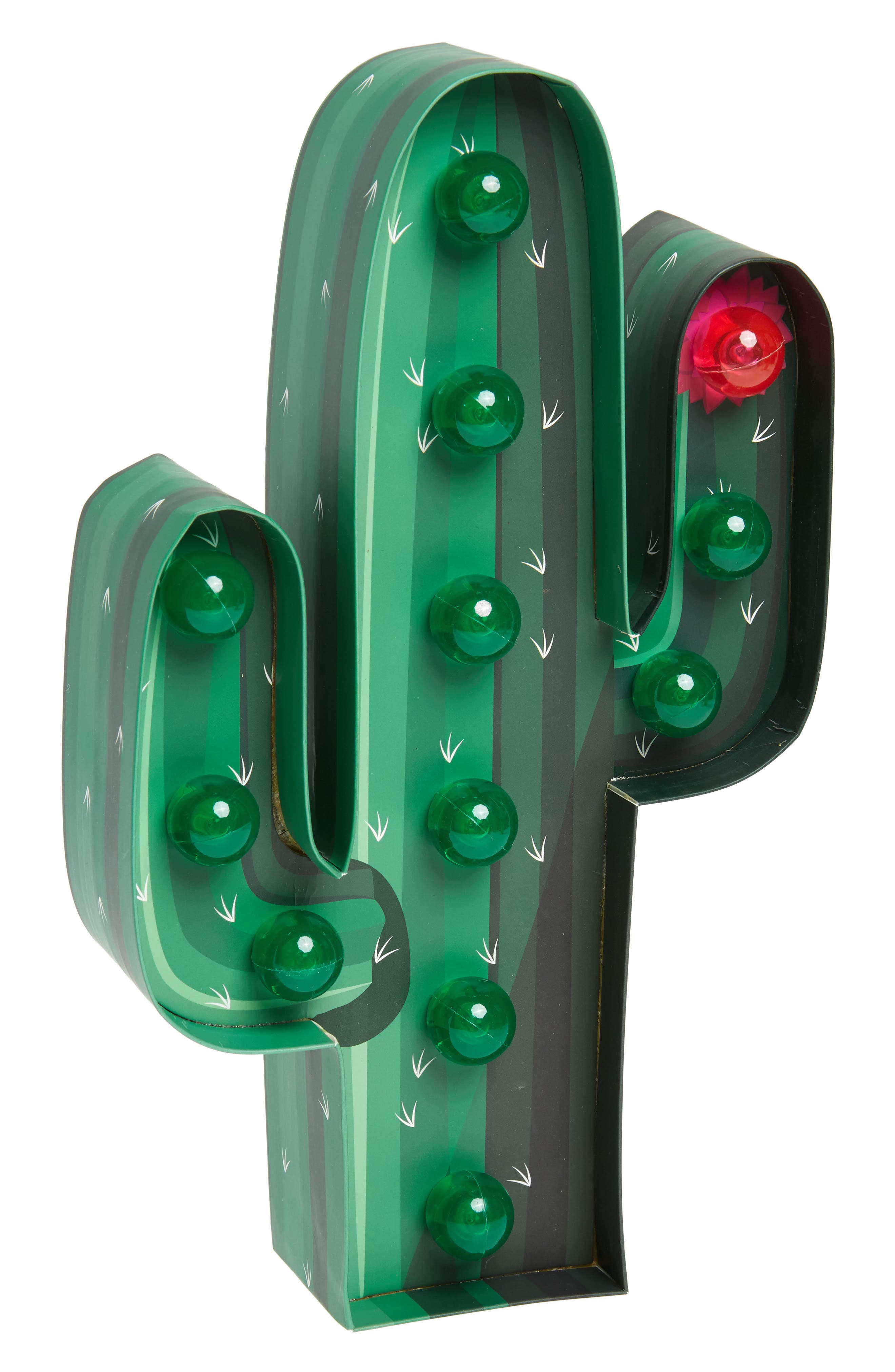 Cactus Marquee Light,                         Main,                         color, Green