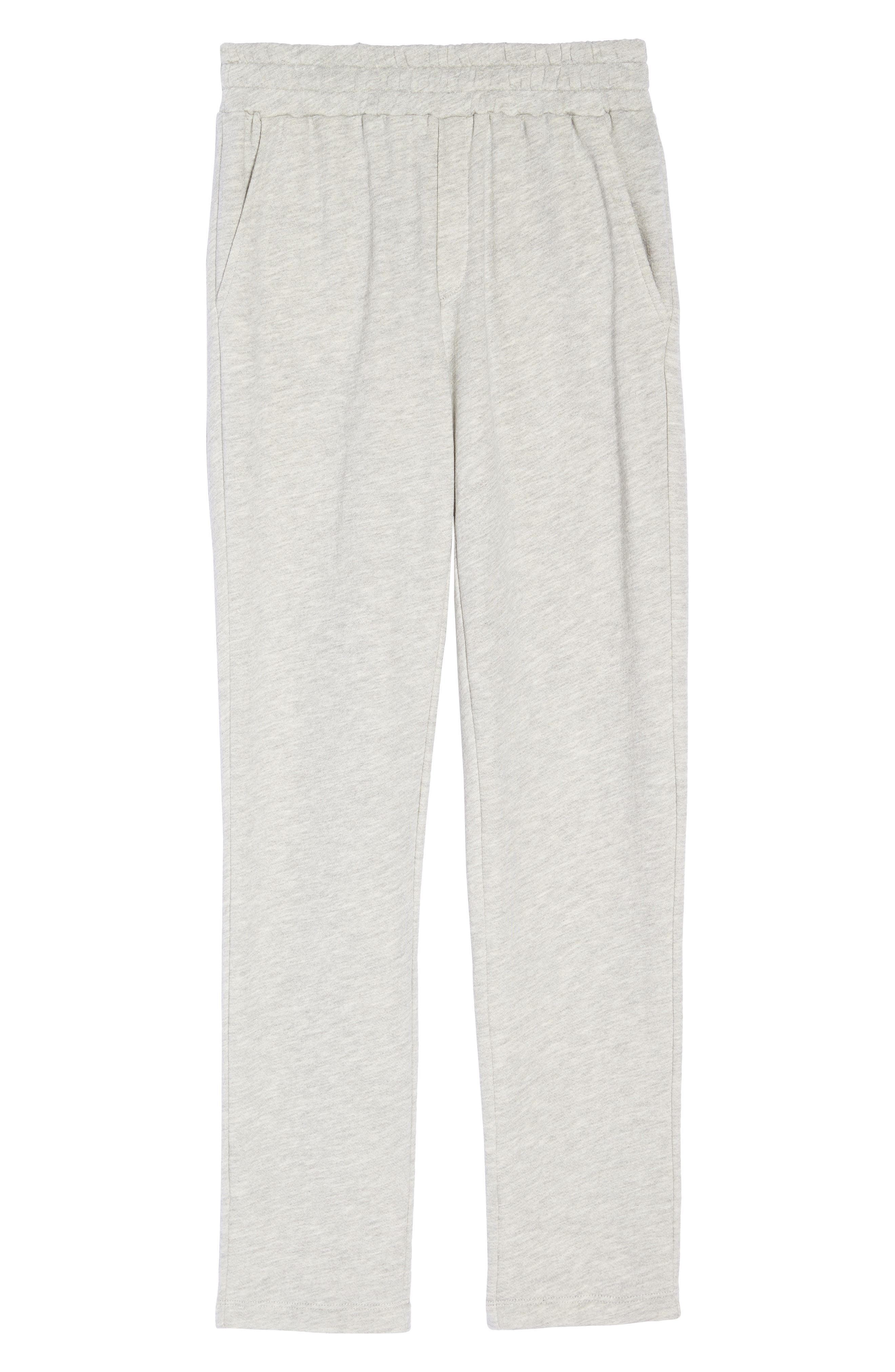 Terry Pajama Pants,                             Alternate thumbnail 4, color,                             Grey Terry