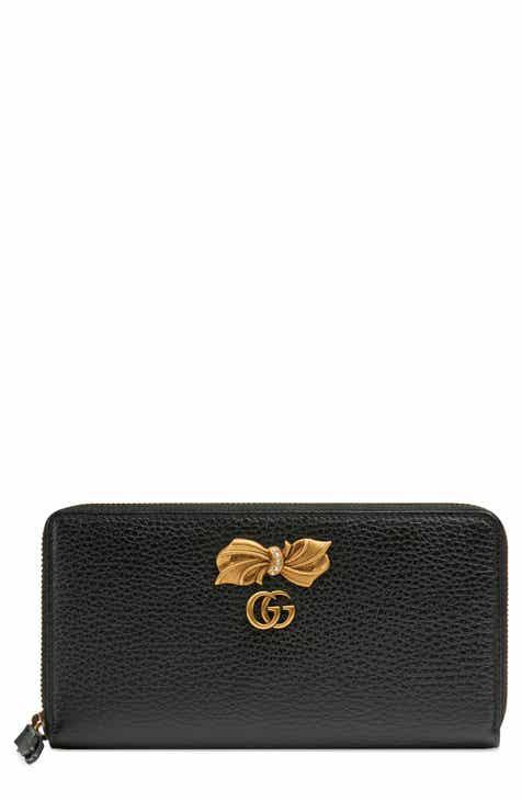 Gucci Linea Fioccino Leather Continental Wallet