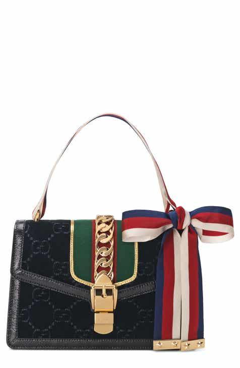Gucci Small Sylvie Velvet Shoulder Bag