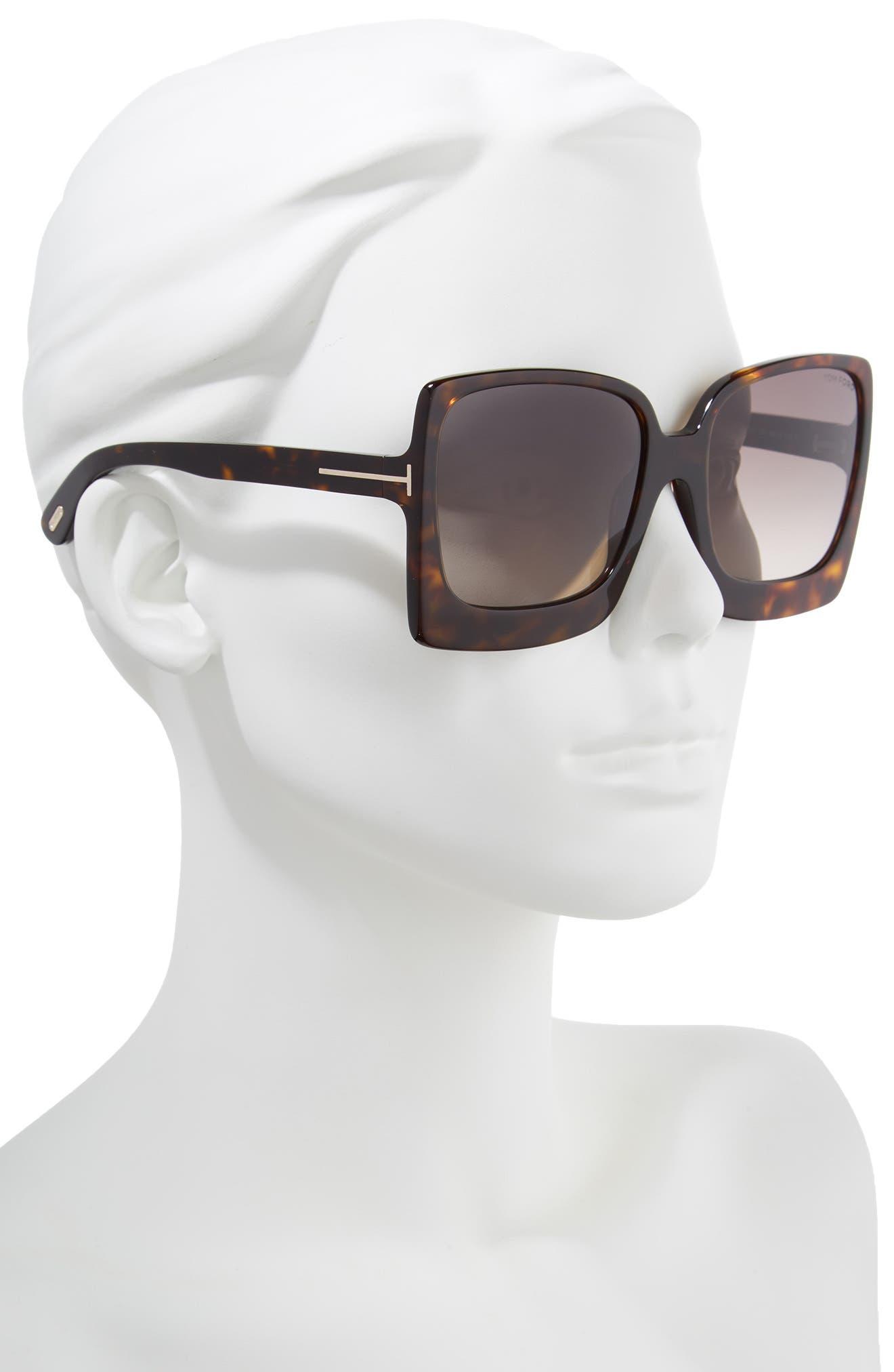 Katrine 60mm Sunglasses,                             Alternate thumbnail 2, color,                             Dark Havana/ Gradient Roviex