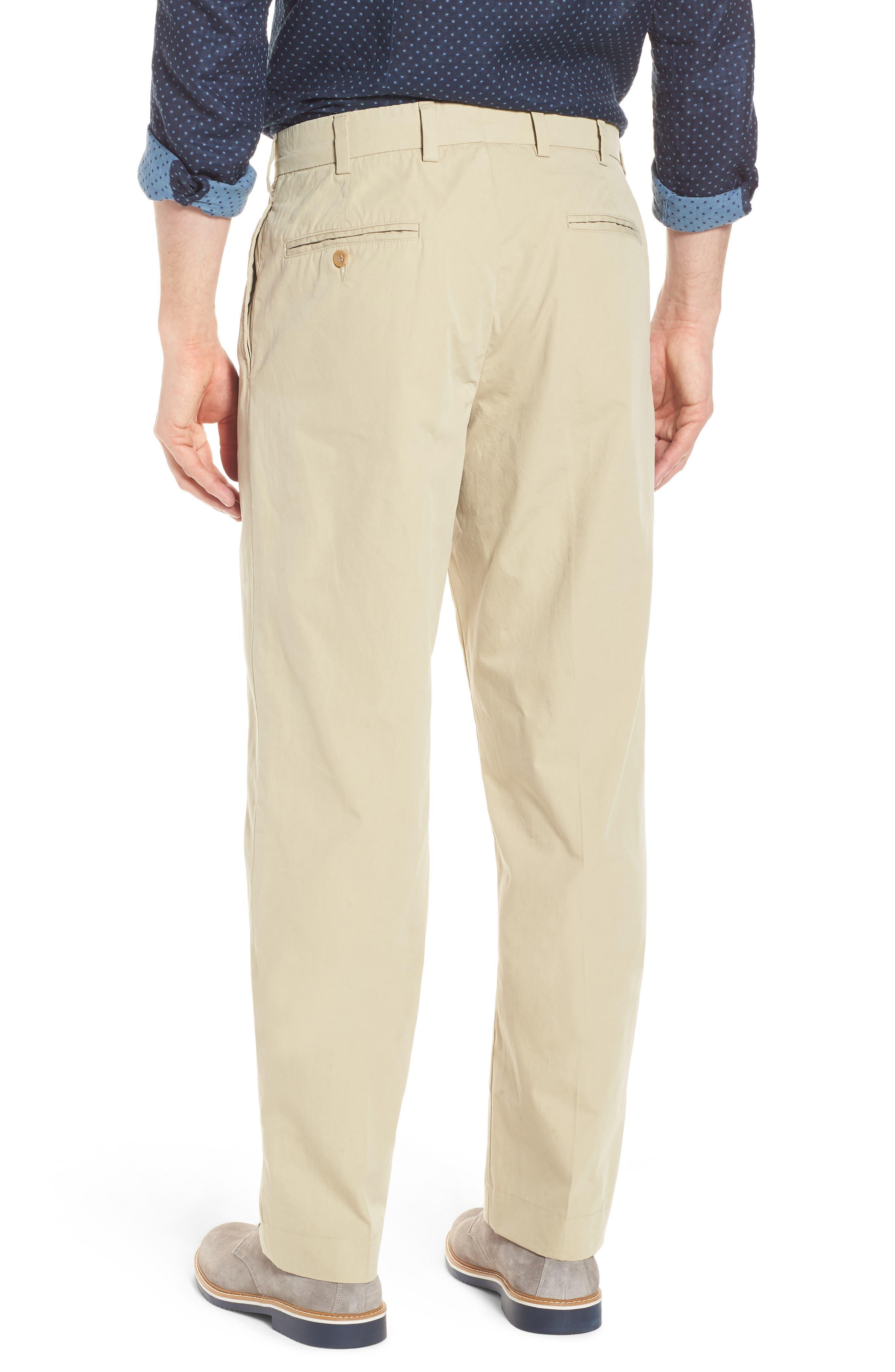M2 Classic Fit Pleated Tropical Cotton Poplin Pants,                             Alternate thumbnail 2, color,                             Khaki