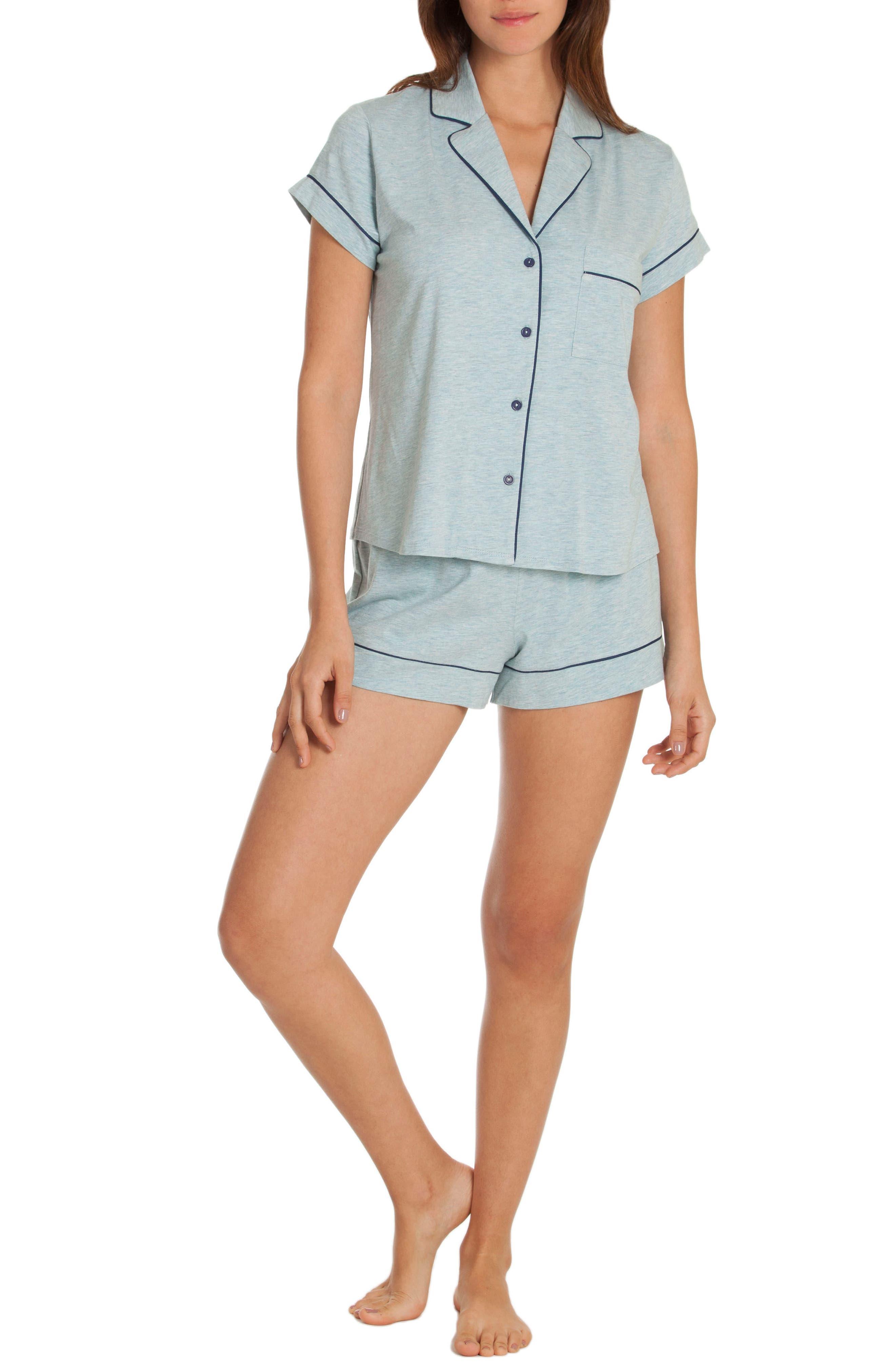 Short Pajamas,                             Alternate thumbnail 4, color,                             Skyfall/ Deep Pacific
