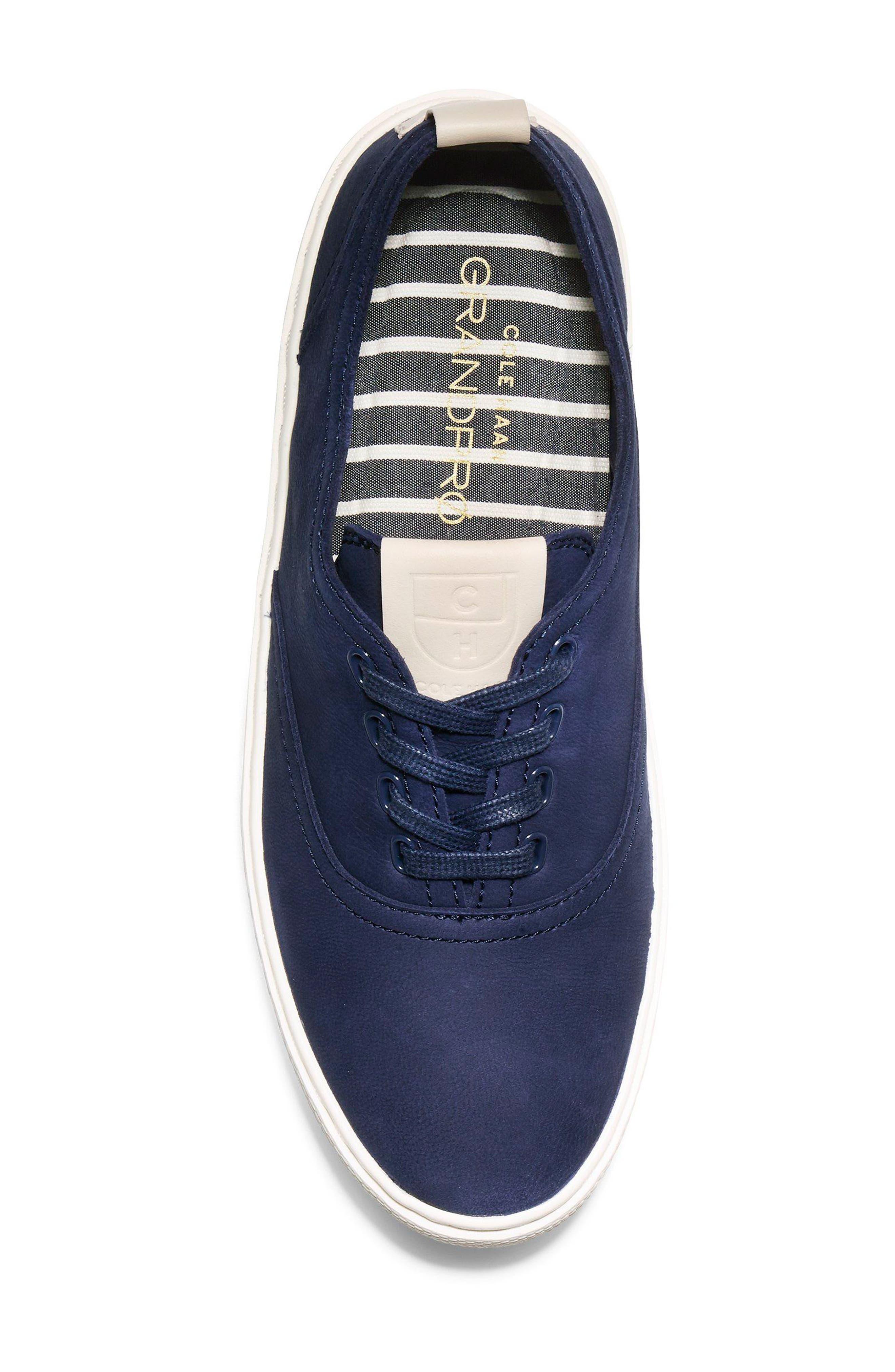 GrandPro Deck Sneaker,                             Alternate thumbnail 5, color,                             Blue/ White Nubuck