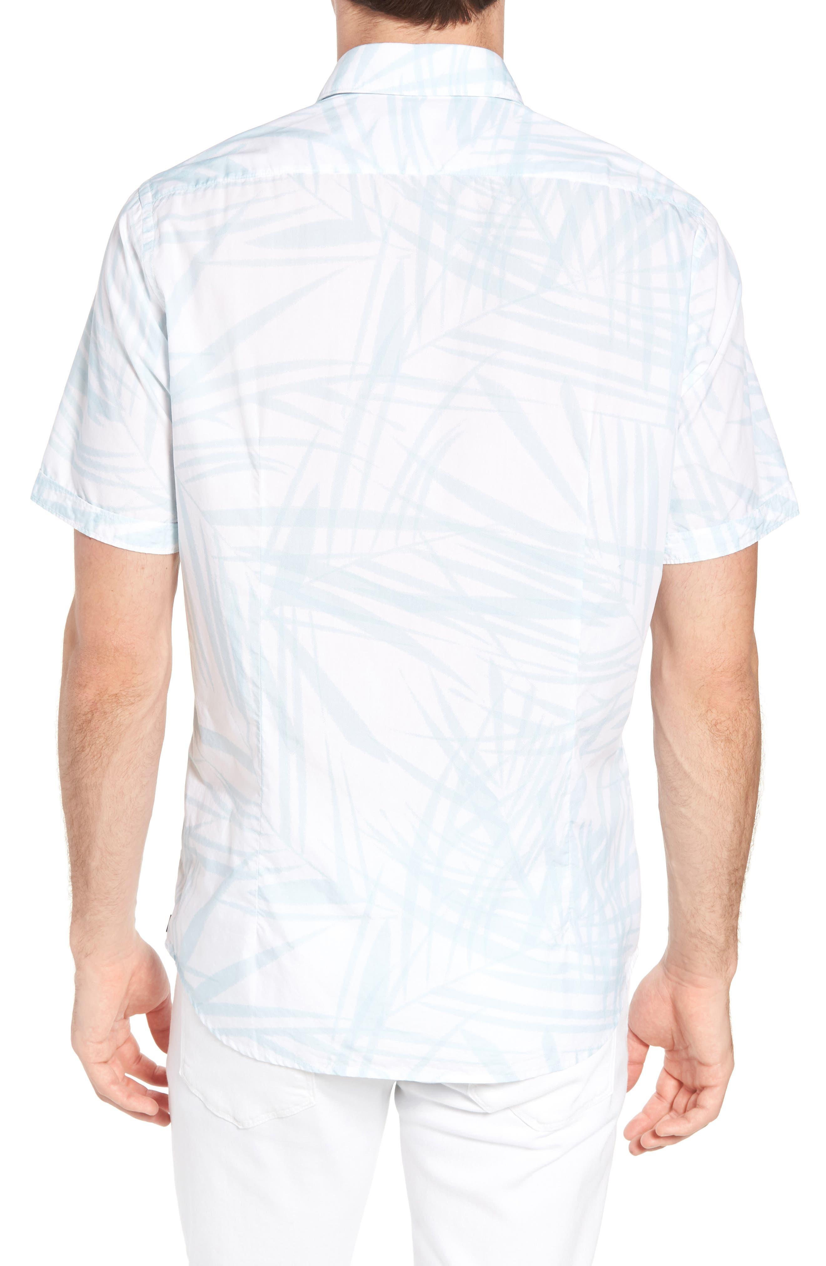 Luka Regular Fit Short Sleeve Sport Shirt,                             Alternate thumbnail 3, color,                             Blue