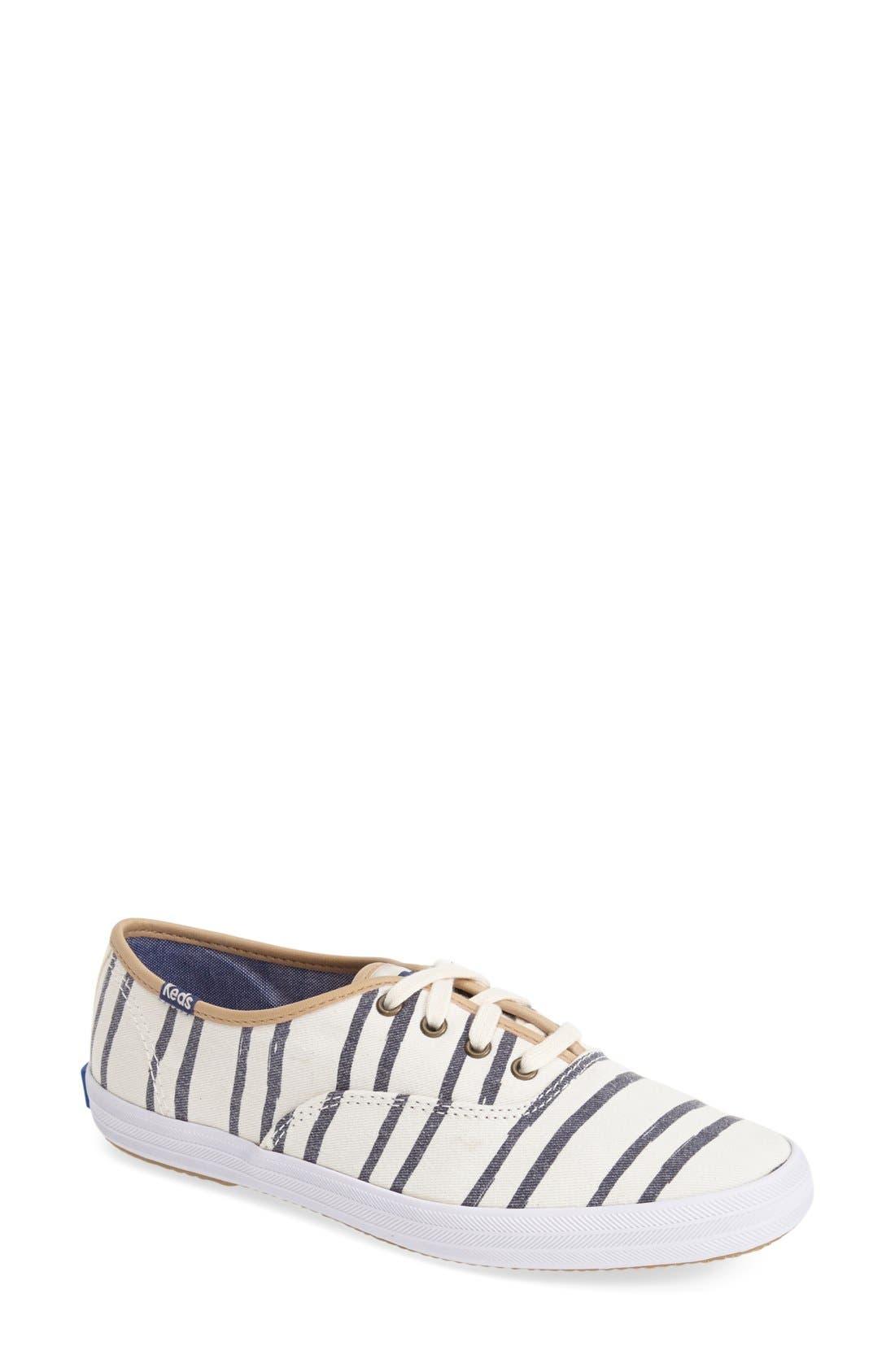 Alternate Image 1 Selected - Keds® 'Champion - Washed Beach Stripe' Sneaker (Women)