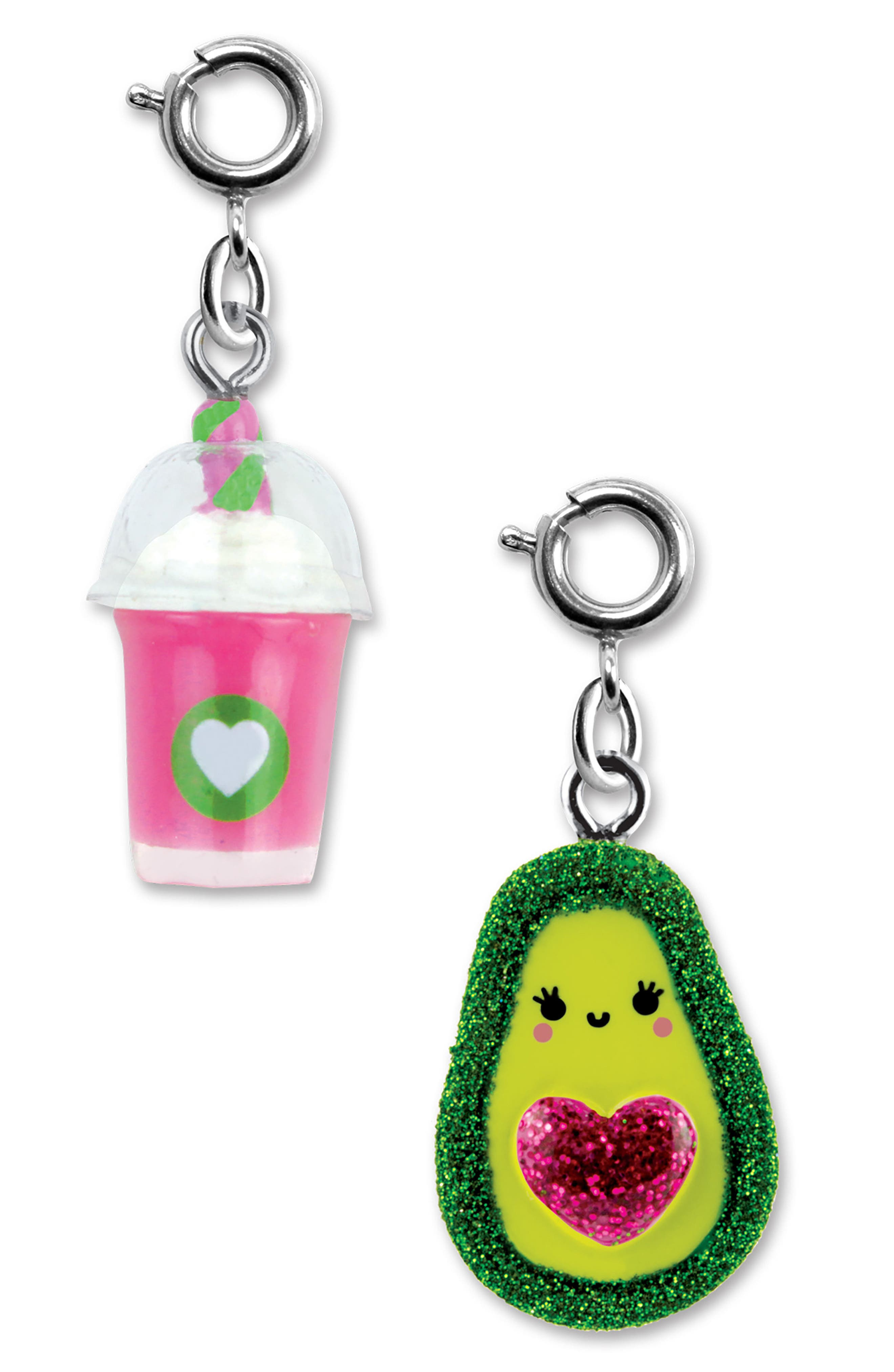 CHARM IT!<sup>®</sup> 2-Pack Smoothie & Avocado Charms,                             Main thumbnail 1, color,                             Multi