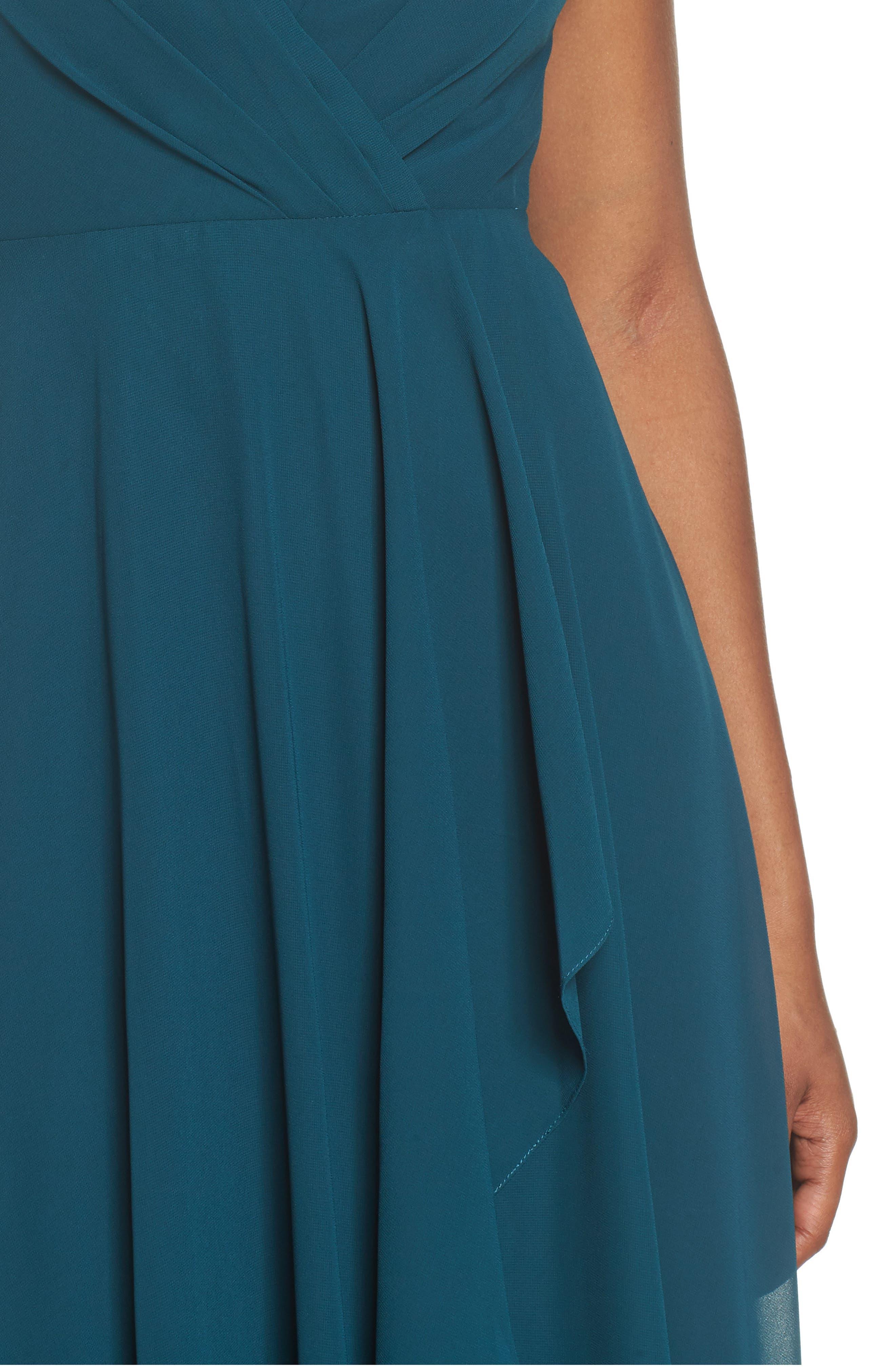 Alternate Image 4  - Jenny Yoo Farrah Ruffle Skirt Chiffon Gown