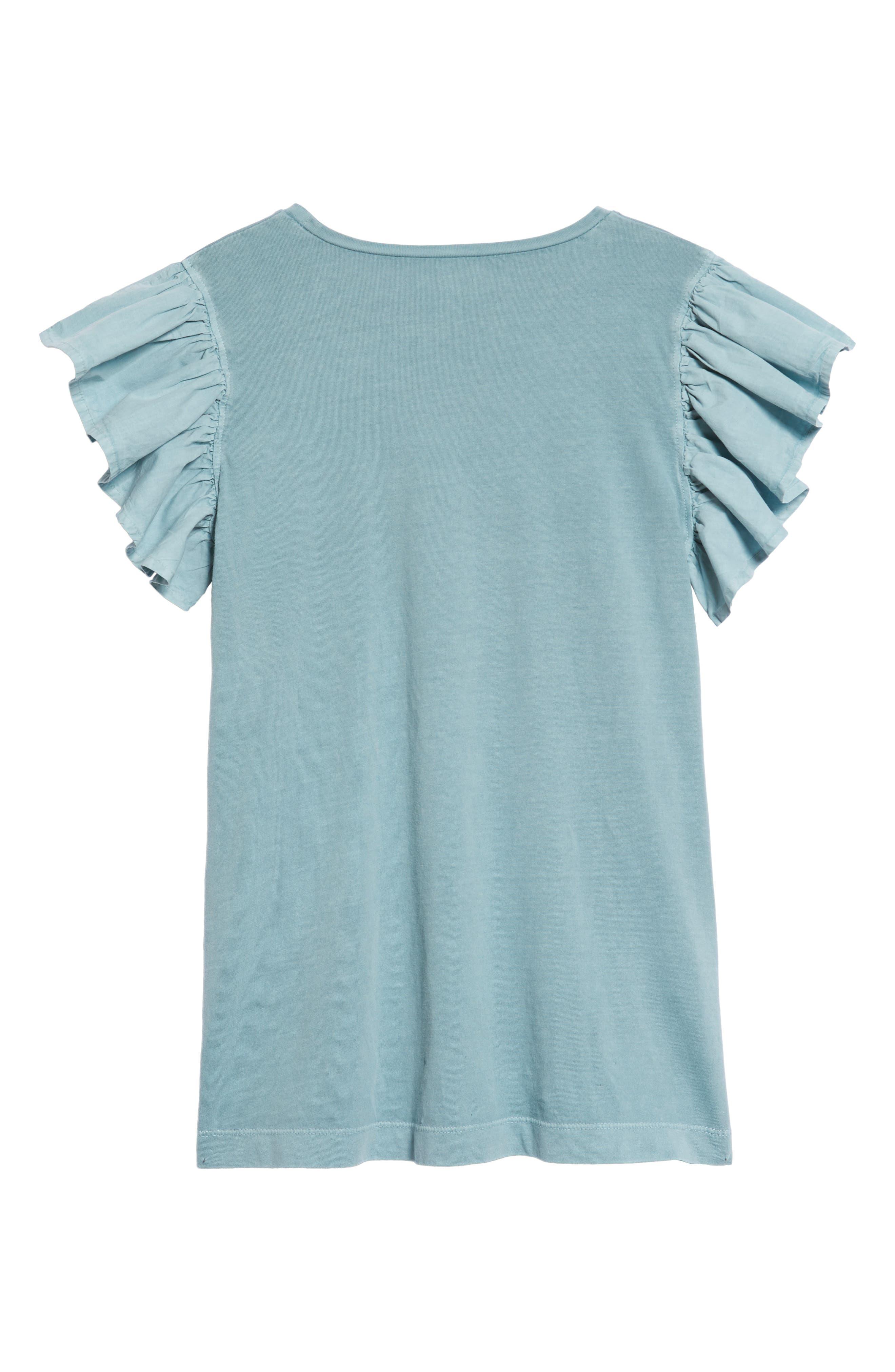 Ruffle Sleeve Dress,                             Alternate thumbnail 2, color,                             Blue Sterling