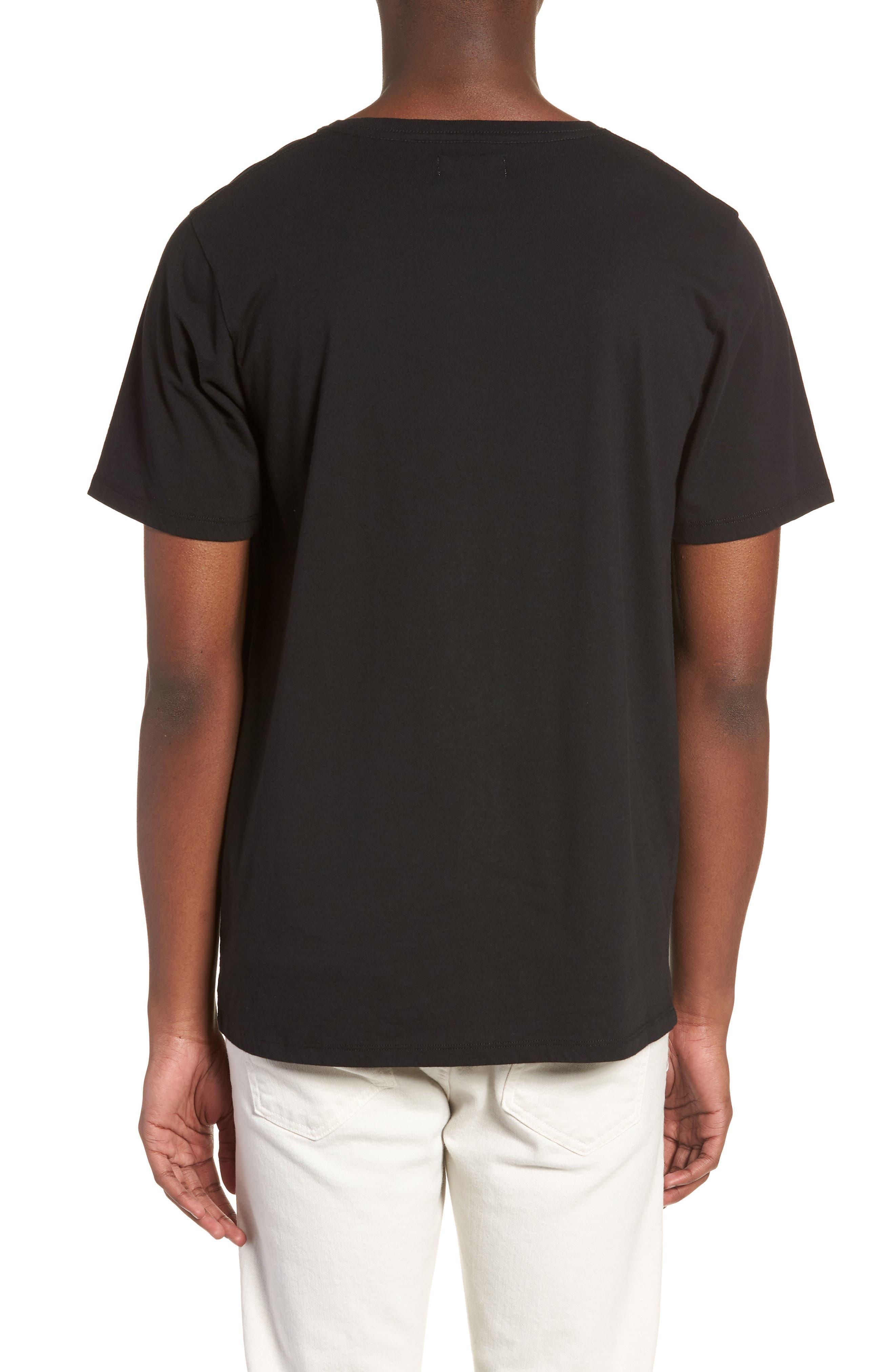 Stencil Grid T-Shirt,                             Alternate thumbnail 2, color,                             Black