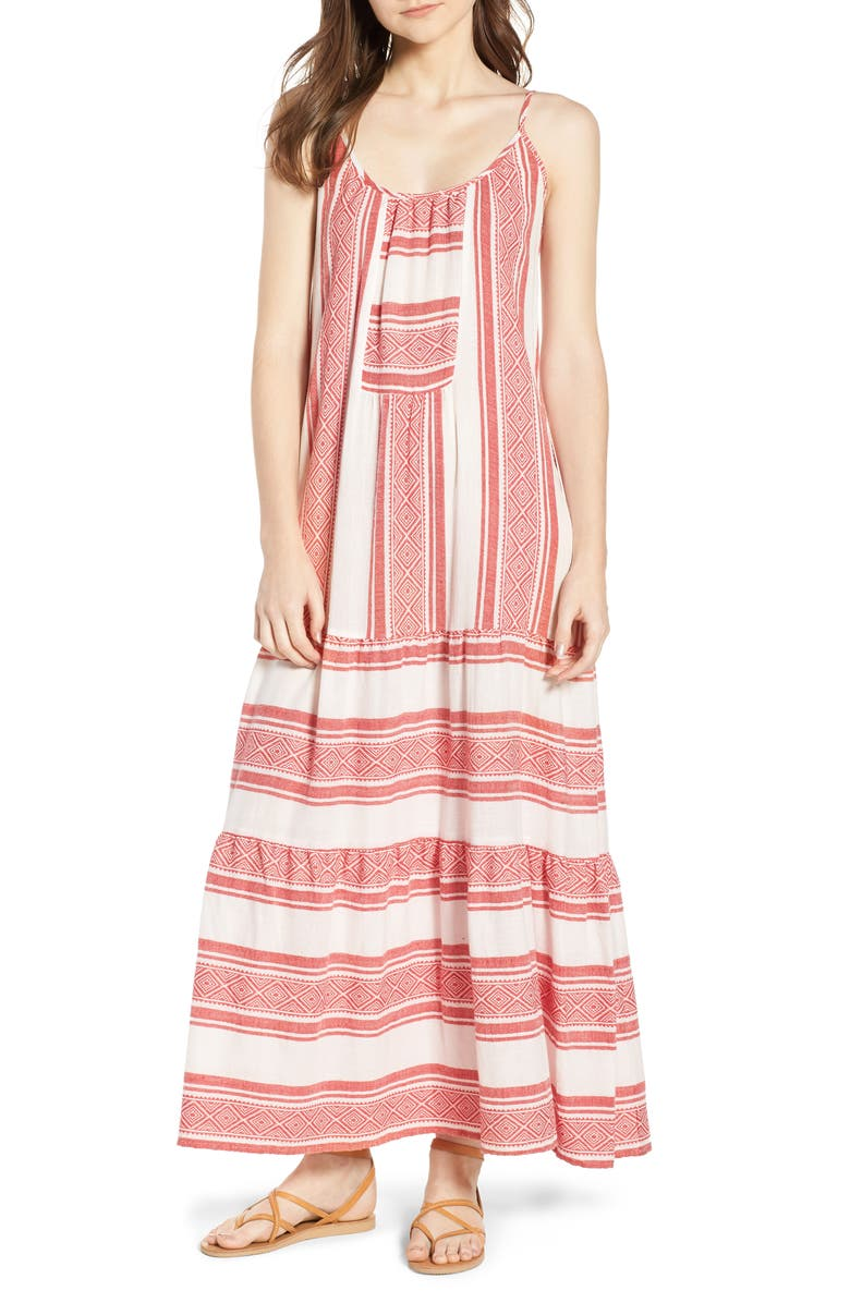 Stripe Jacquard Maxi Dress