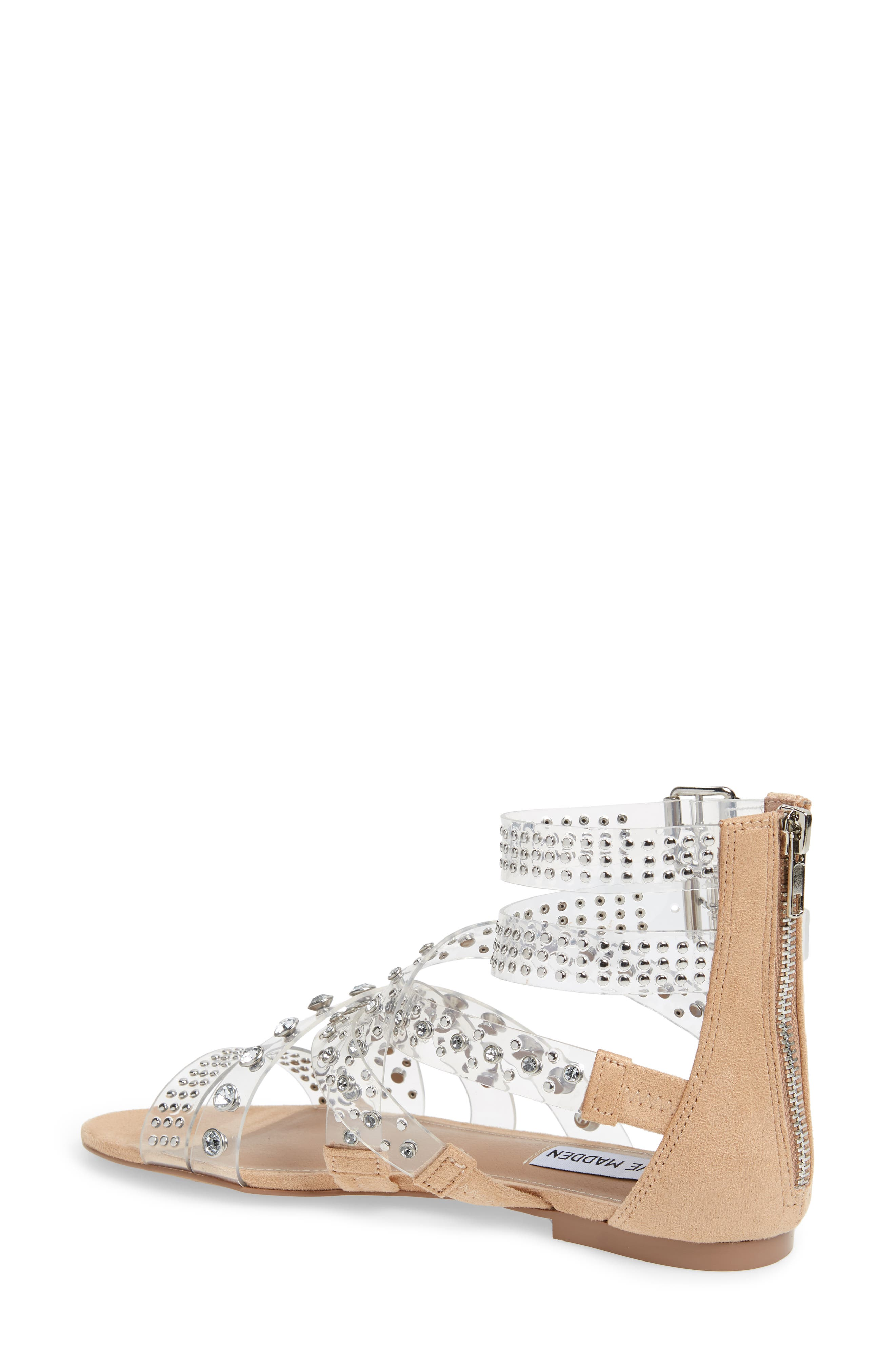 Shift Embellished Gladiator Sandal,                             Alternate thumbnail 2, color,                             Clear