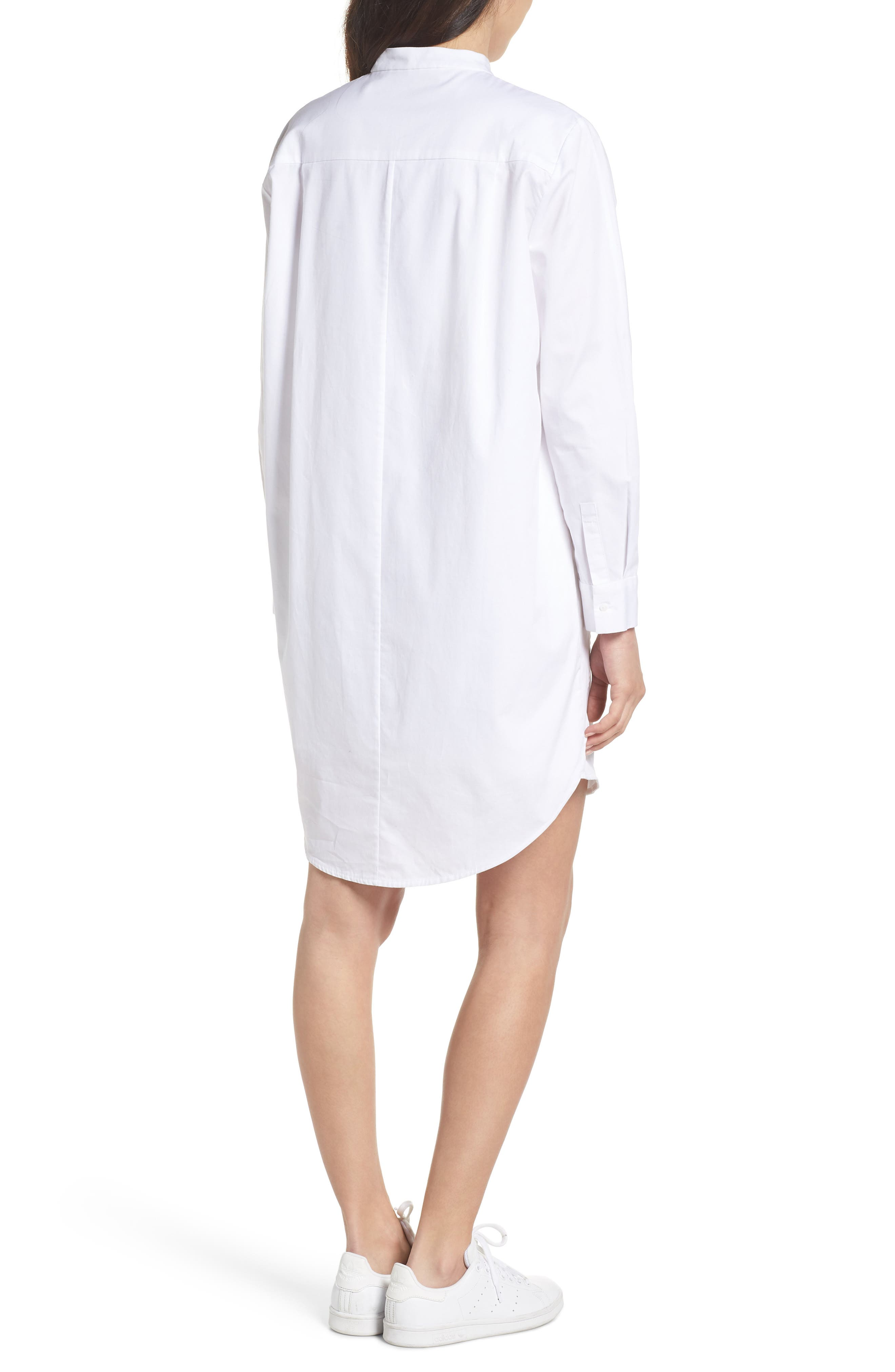Boyfriend Shirtdress,                             Alternate thumbnail 2, color,                             White