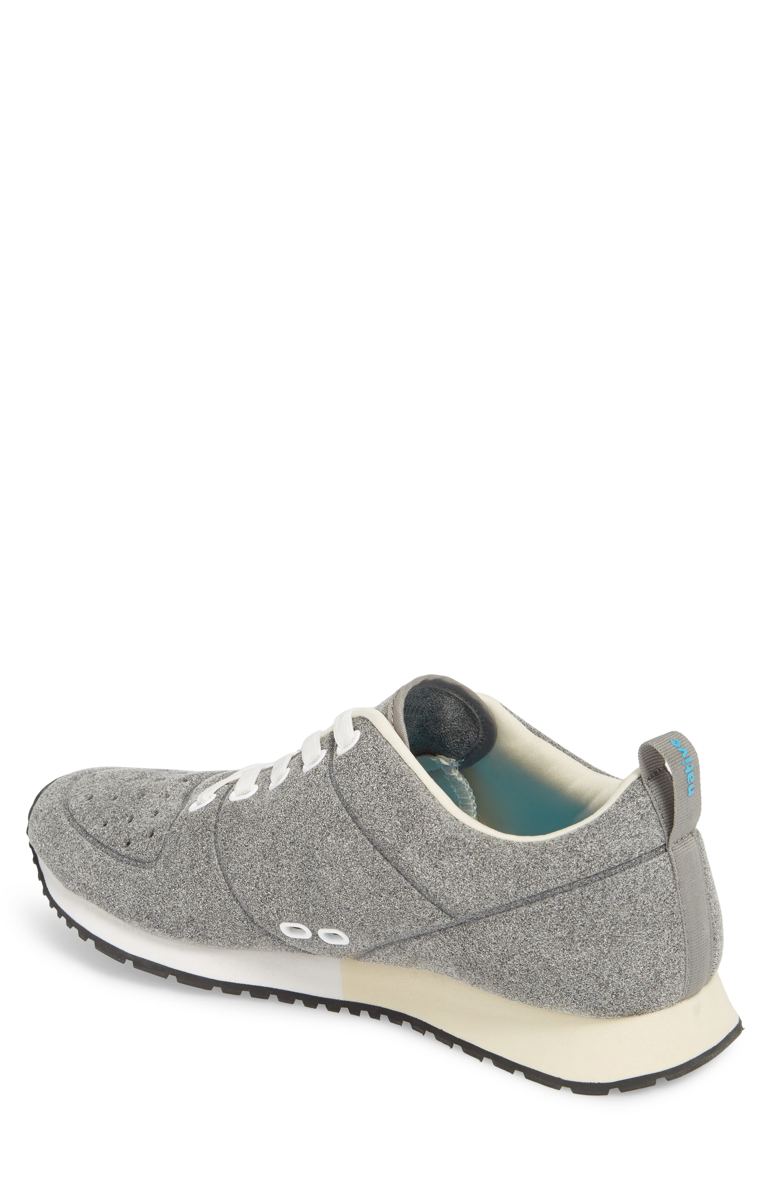 Cornell Perforated Sneaker,                             Alternate thumbnail 2, color,                             Pigeon Grey/ Shell White