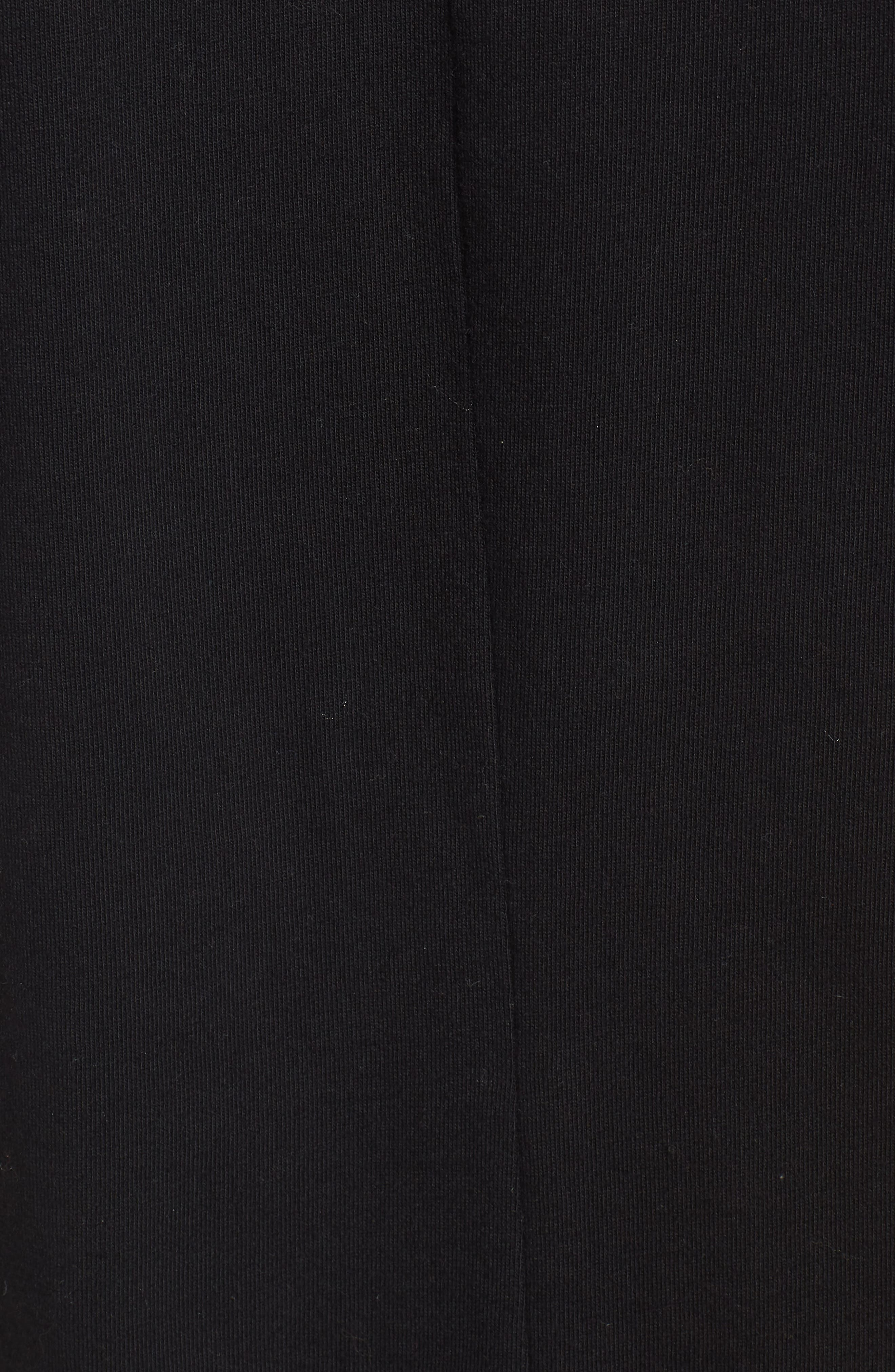 Football Stripe Dress,                             Alternate thumbnail 5, color,                             Black