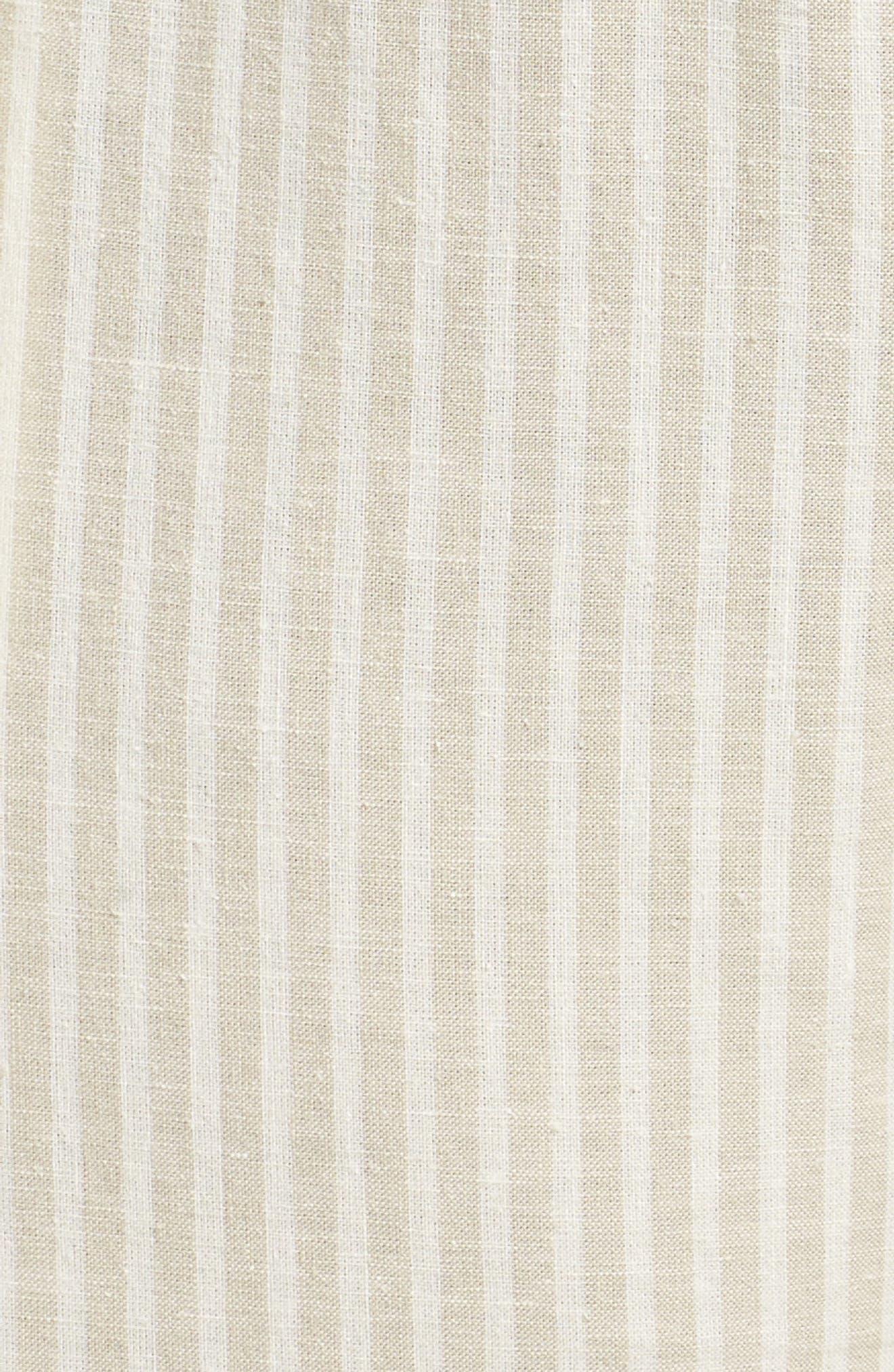Stripe Ankle Hemp & Cotton Pants,                             Alternate thumbnail 6, color,                             Natural