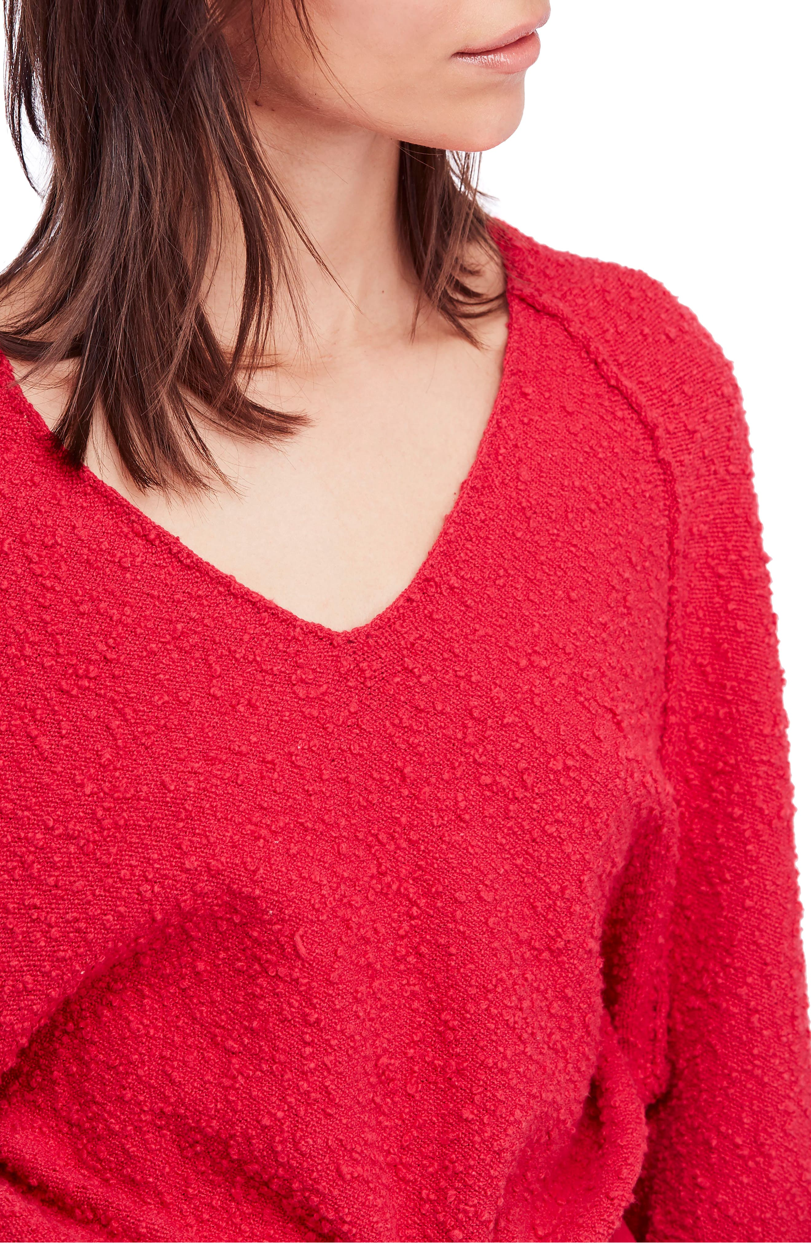 Found My Friend Sweater,                             Alternate thumbnail 4, color,                             Red