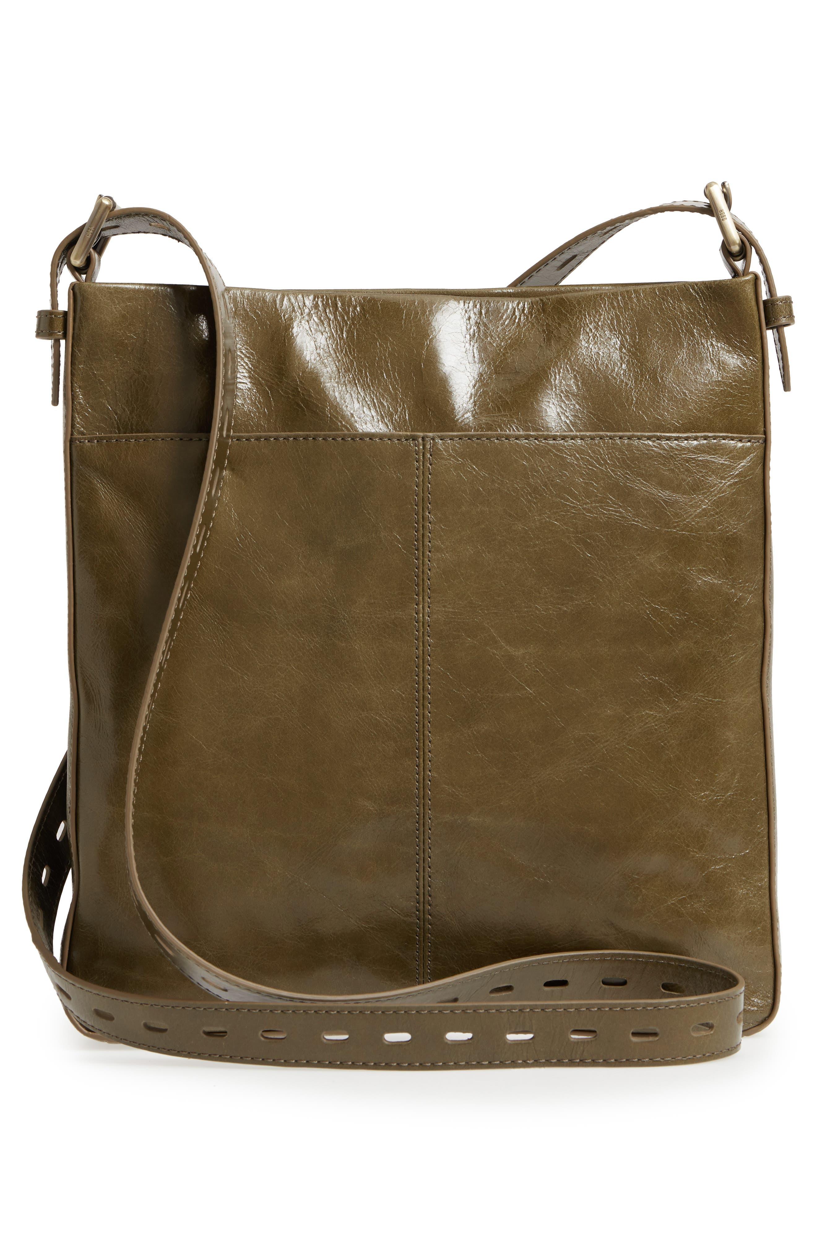 Crusade Leather Crossbody Bag,                             Alternate thumbnail 3, color,                             Willow