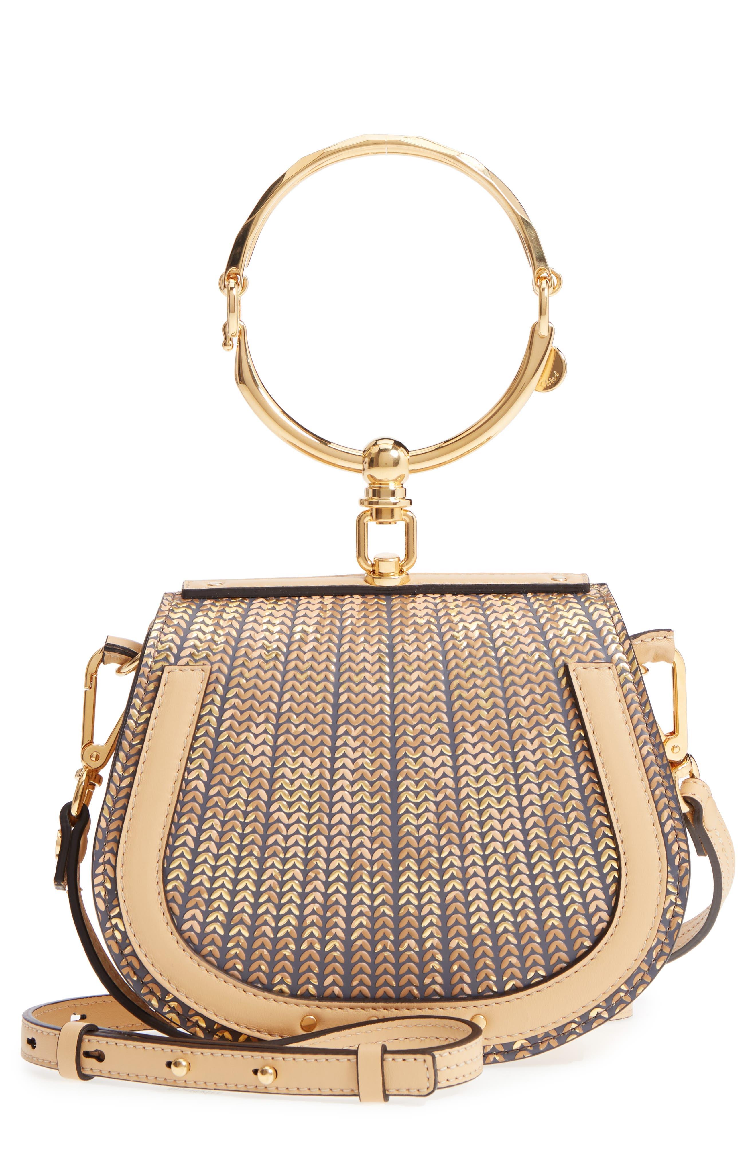 Chloé Small Nile Sequin Leather Bracelet Crossbody Bag