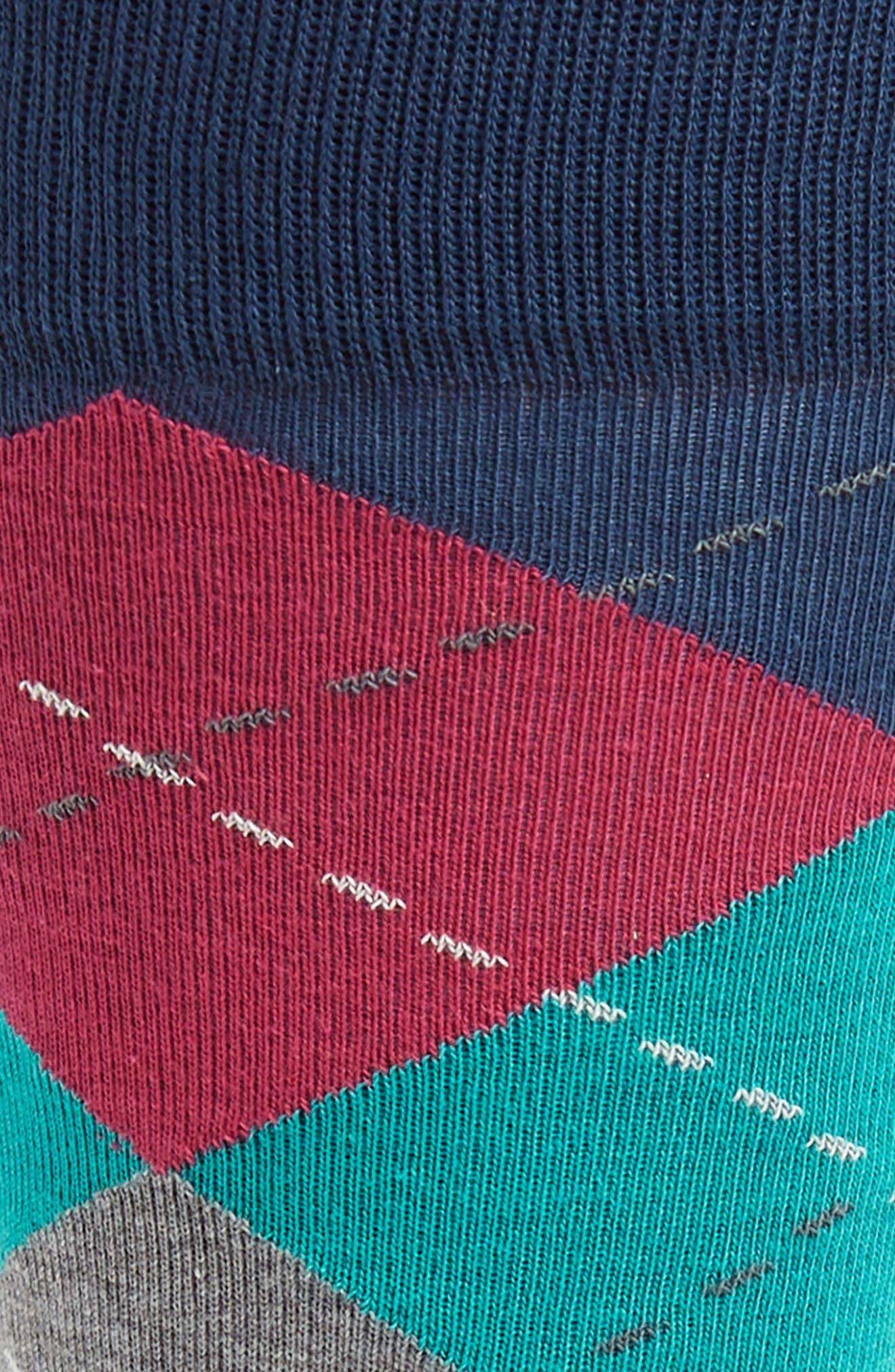 Argyle Socks,                             Alternate thumbnail 2, color,                             Navy/ Red