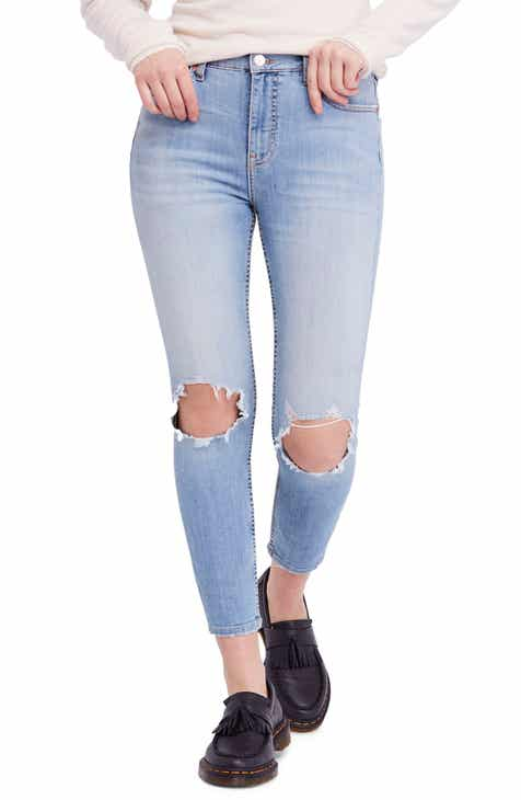 b8f37ad2c4778 We the Free by Free People High Waist Ankle Skinny Jeans
