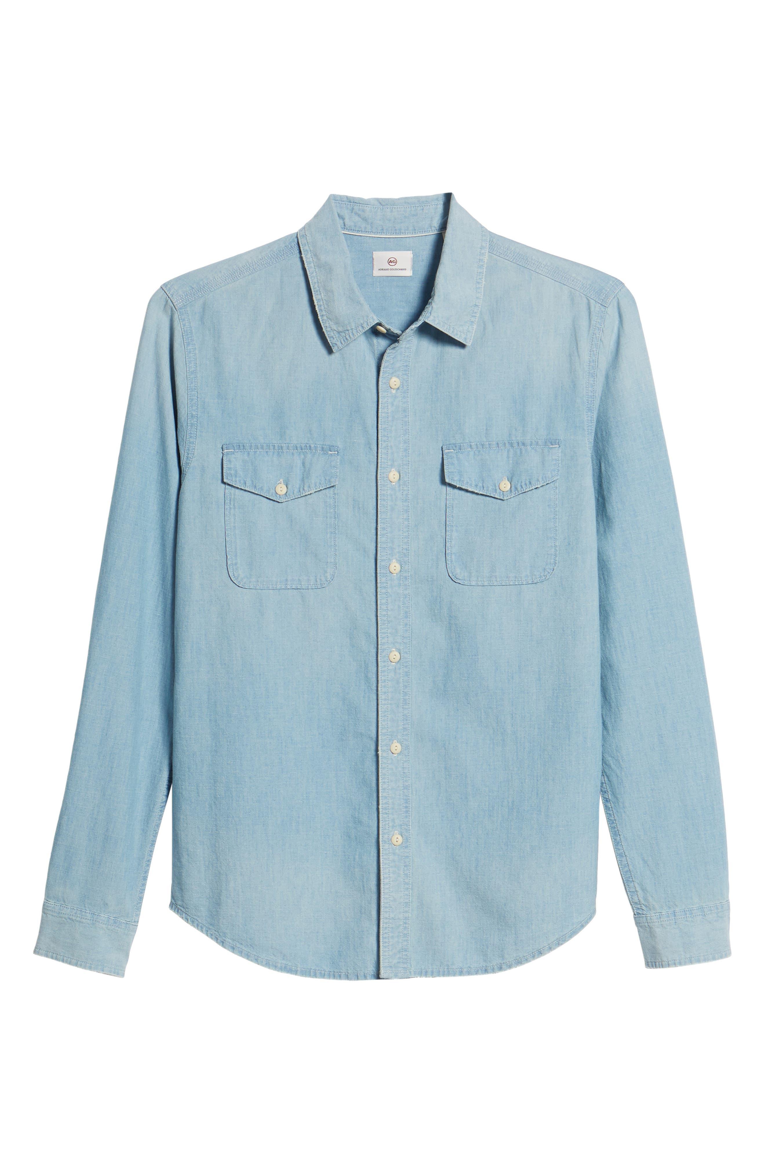 Benning Regular Fit Sport Shirt,                             Alternate thumbnail 6, color,                             Roadstead