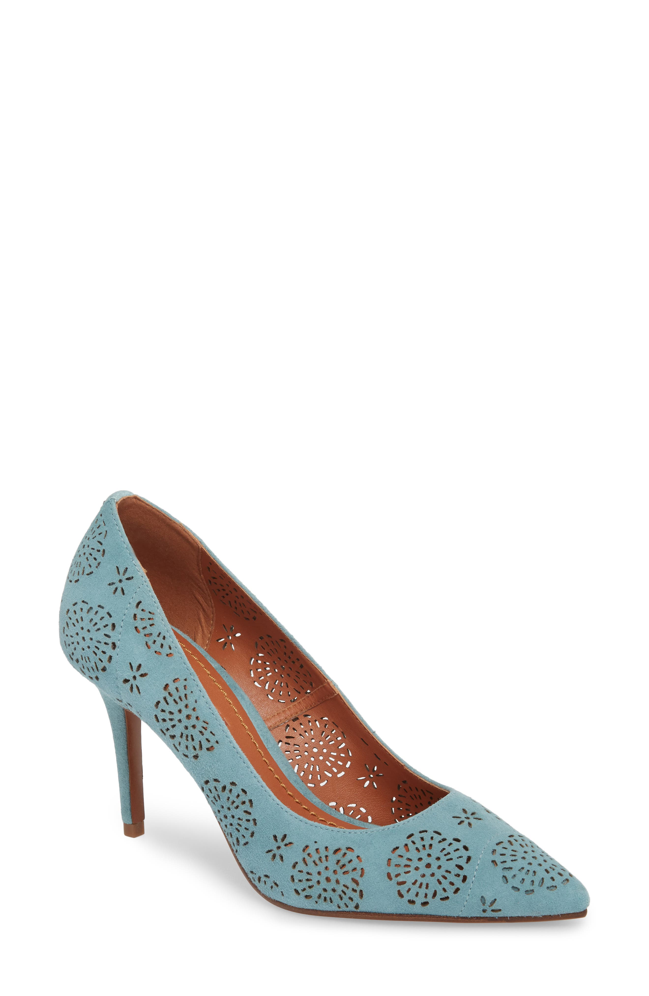 COACH Waverly Tea Rose Perforated Pump (Women)
