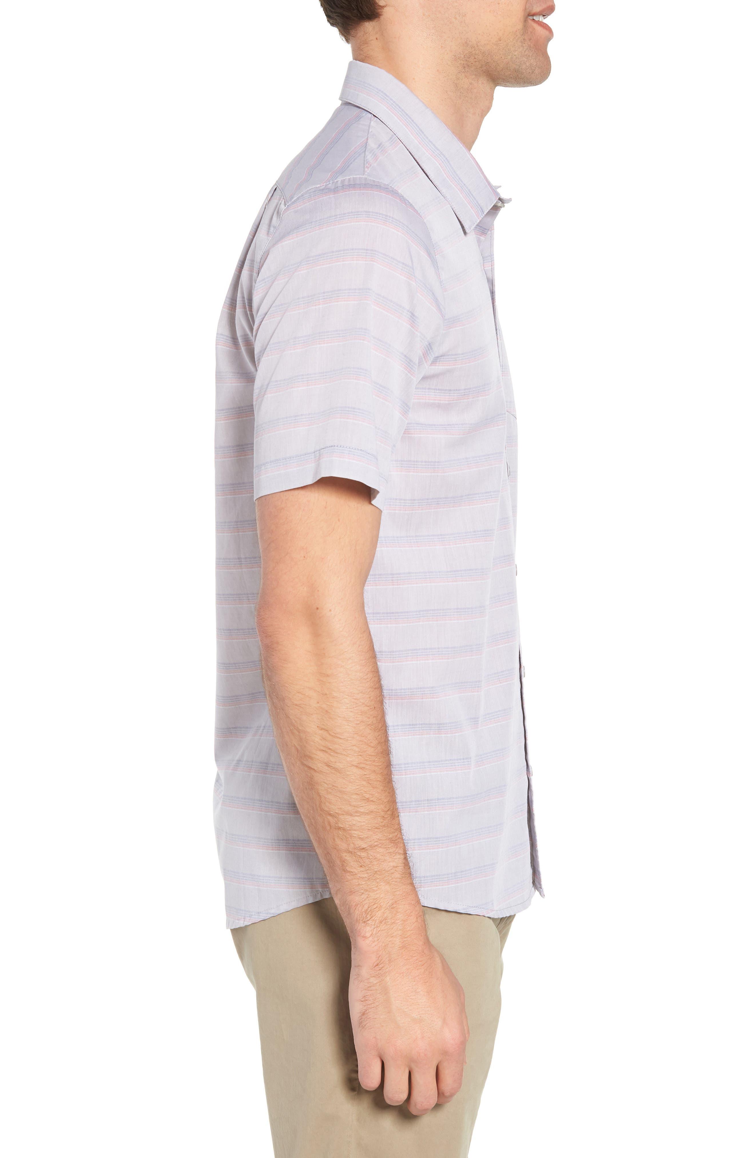 Comet Regular Fit Short Sleeve Sport Shirt,                             Alternate thumbnail 4, color,                             Heather Sharkskin