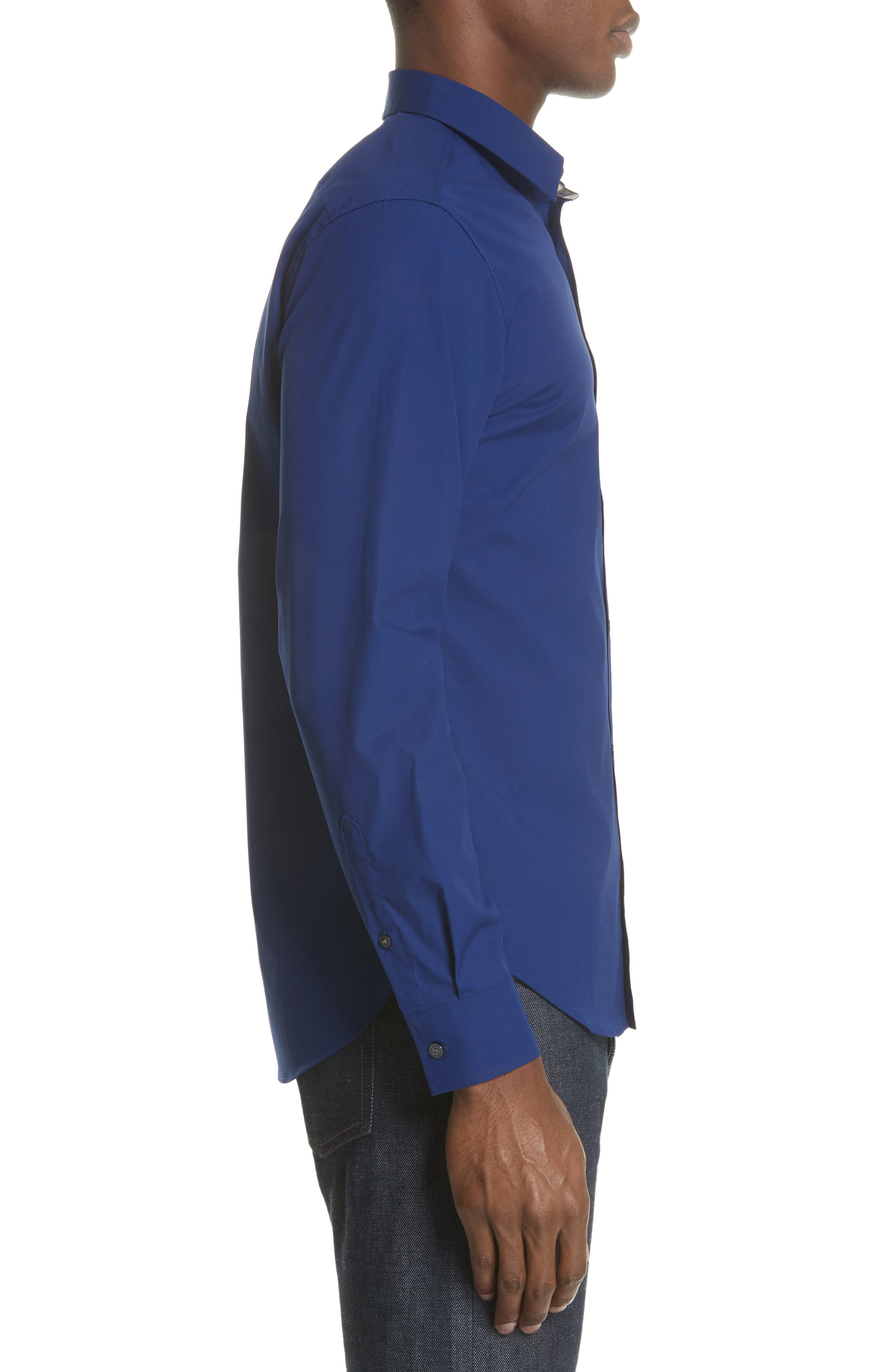 Cambridge Aboyd Sport Shirt,                             Alternate thumbnail 4, color,                             Bright Navy