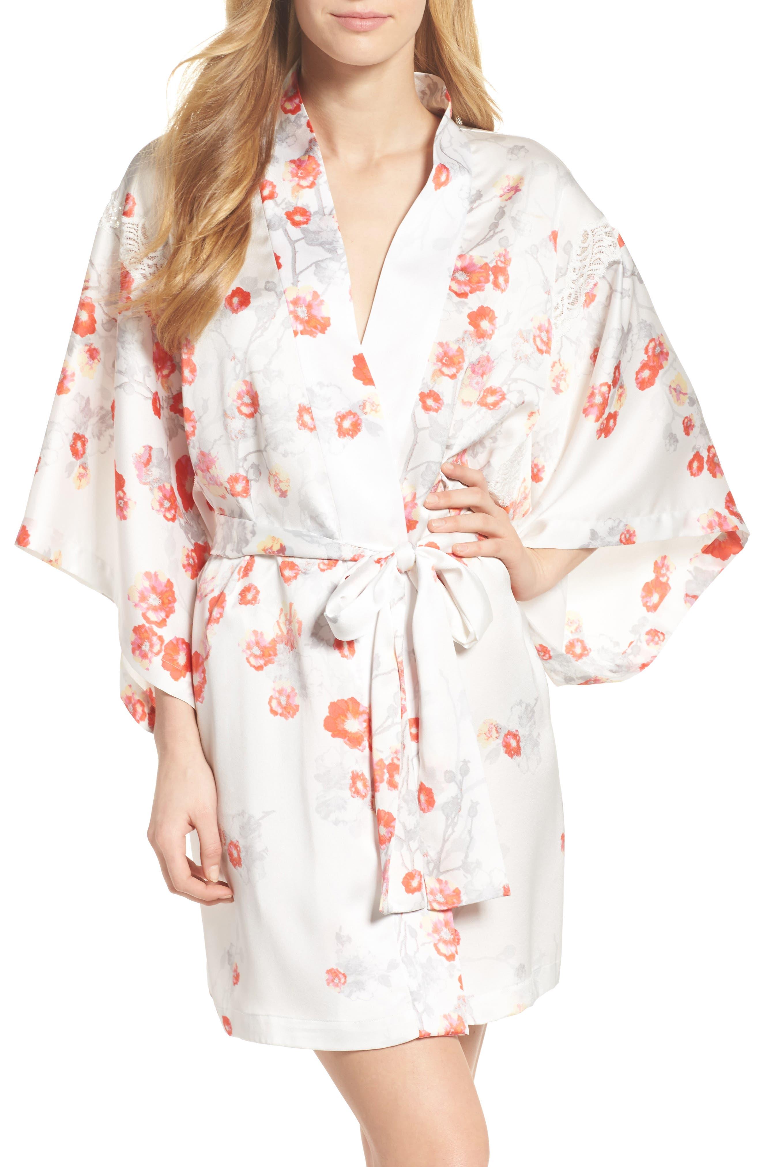 Blossom Print Wrap,                             Main thumbnail 1, color,                             White/ Multi