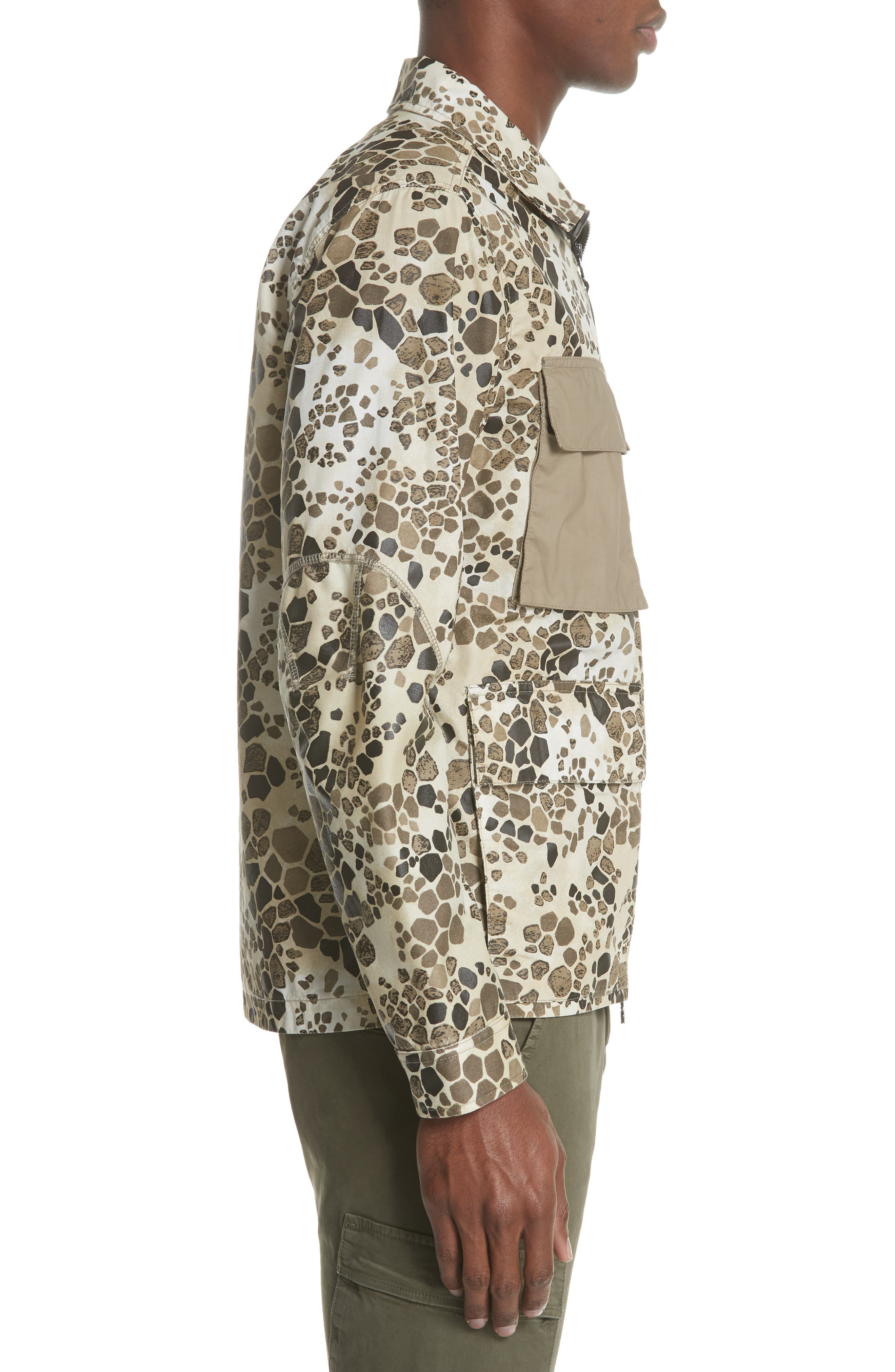 Camo Military Field Jacket,                             Alternate thumbnail 3, color,                             Brown